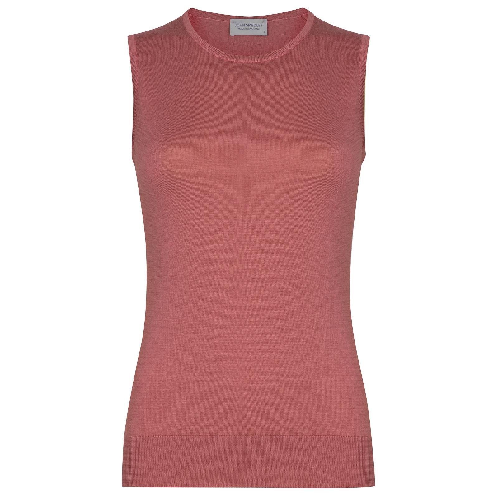 John Smedley Highgate in Azalea Pink Sweater-MED