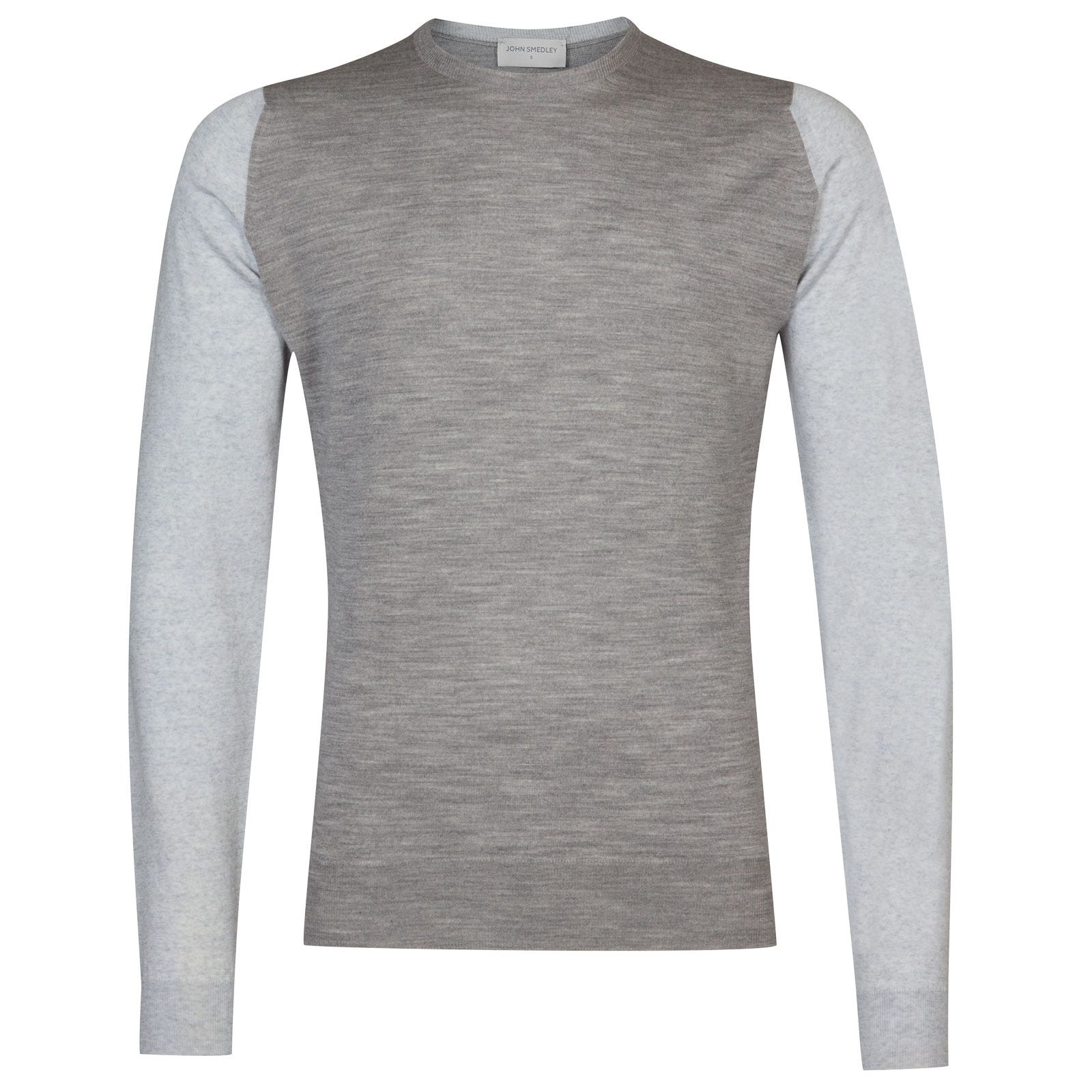 John Smedley Hindlow Extra Fine Merino Pullover in Silver-M