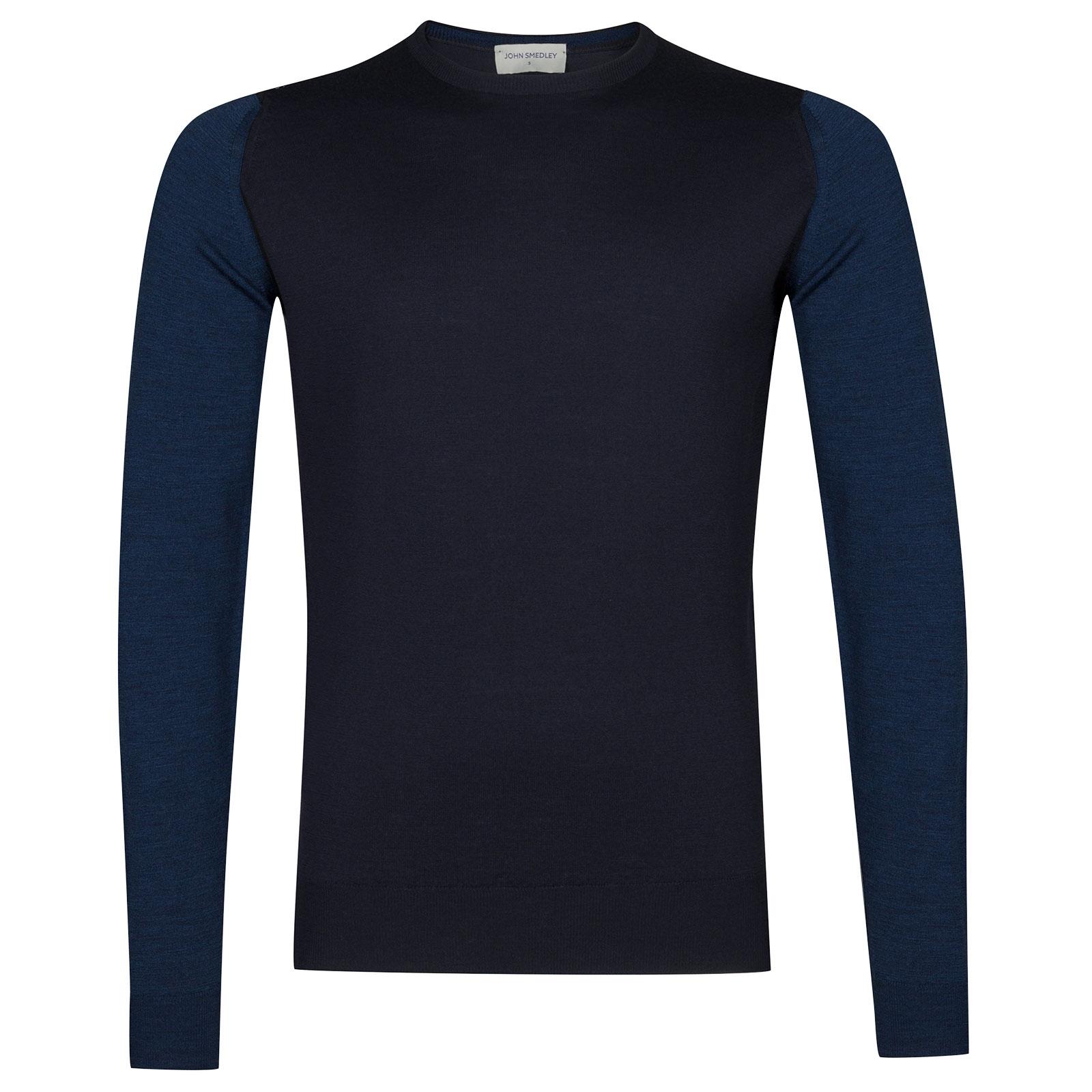 John Smedley Hindlow Extra Fine Merino Wool Pullover in Midnight-L