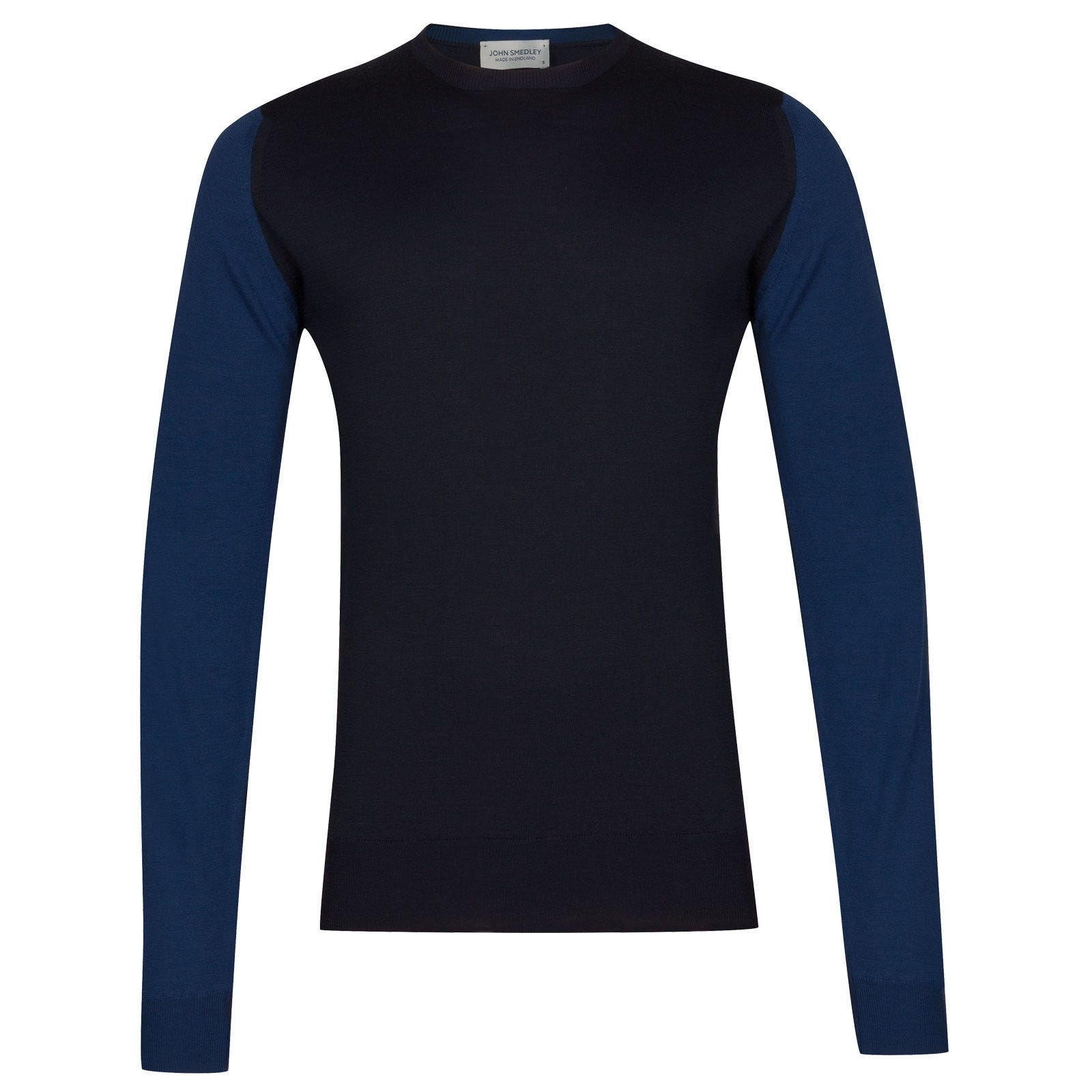 John Smedley Hindlow Extra Fine Merino Pullover in Midnight-XL