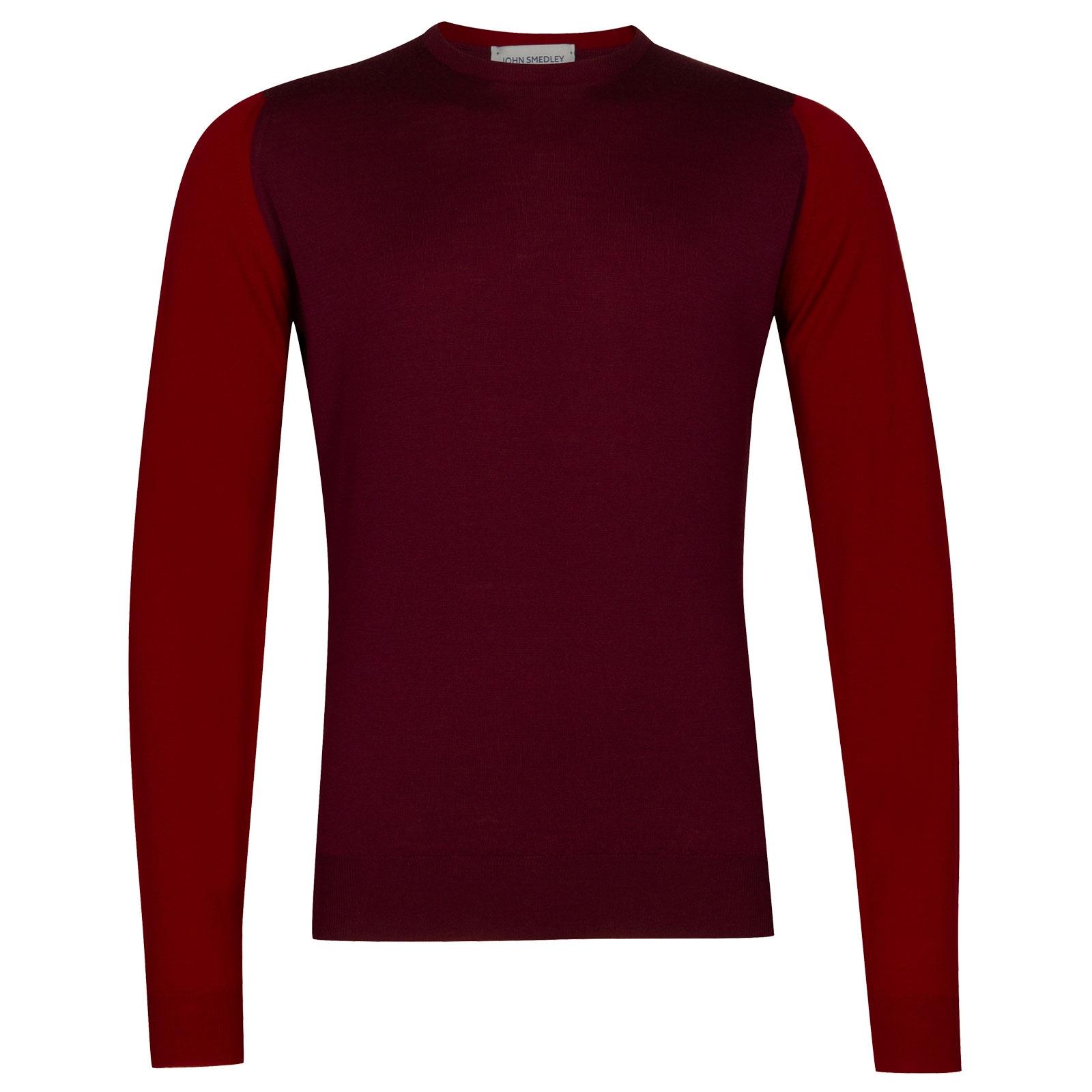 John Smedley Hindlow Extra Fine Merino Pullover in Bordeaux-S