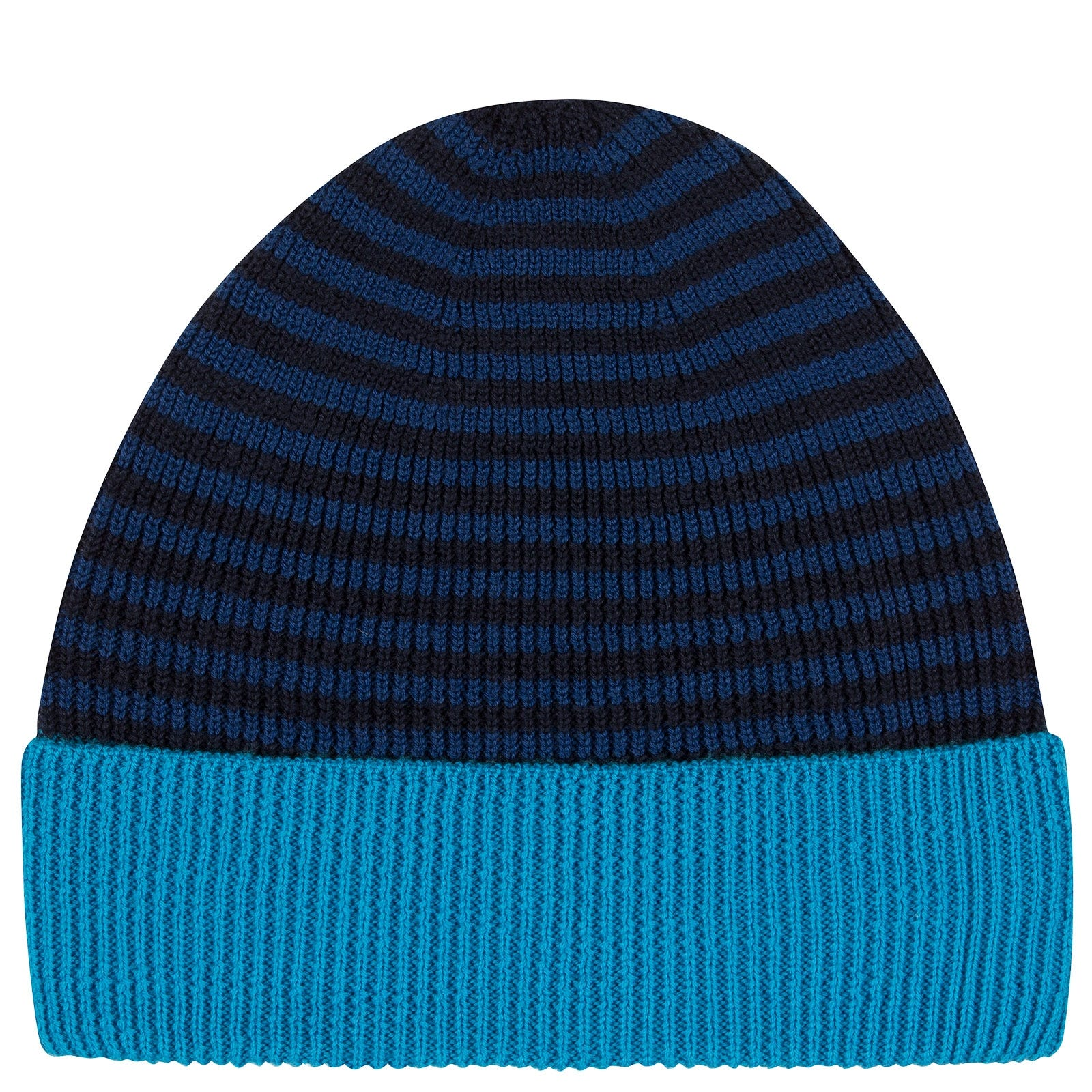 John Smedley Hubble Merino Wool Hat in Midnight-ONE