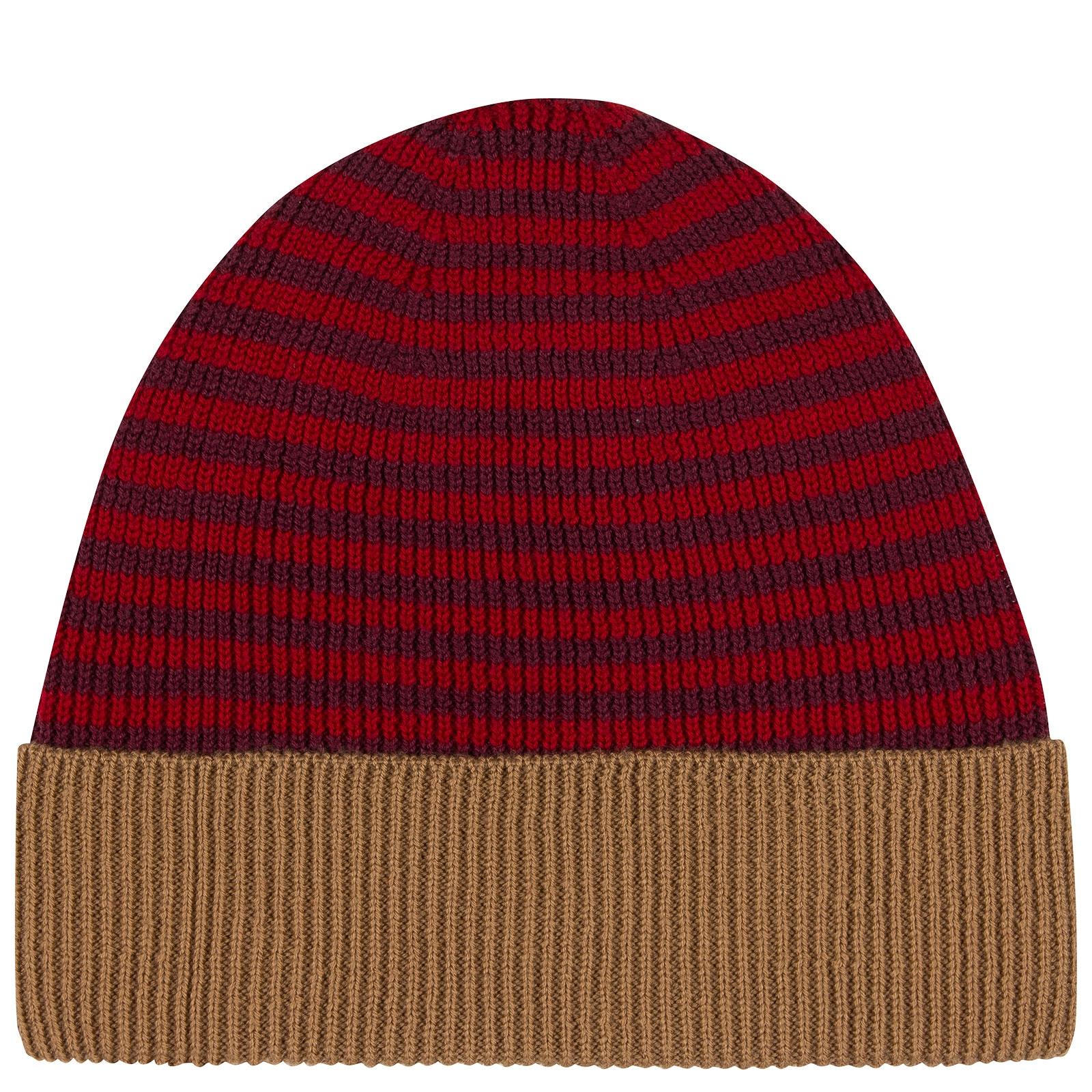 John Smedley Hubble Merino Wool Hat in Bordeaux-ONE