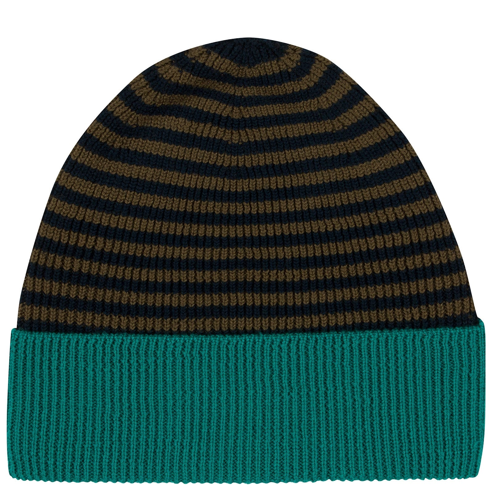 John Smedley Hubble Merino Wool Hat in Orion Green-ONE