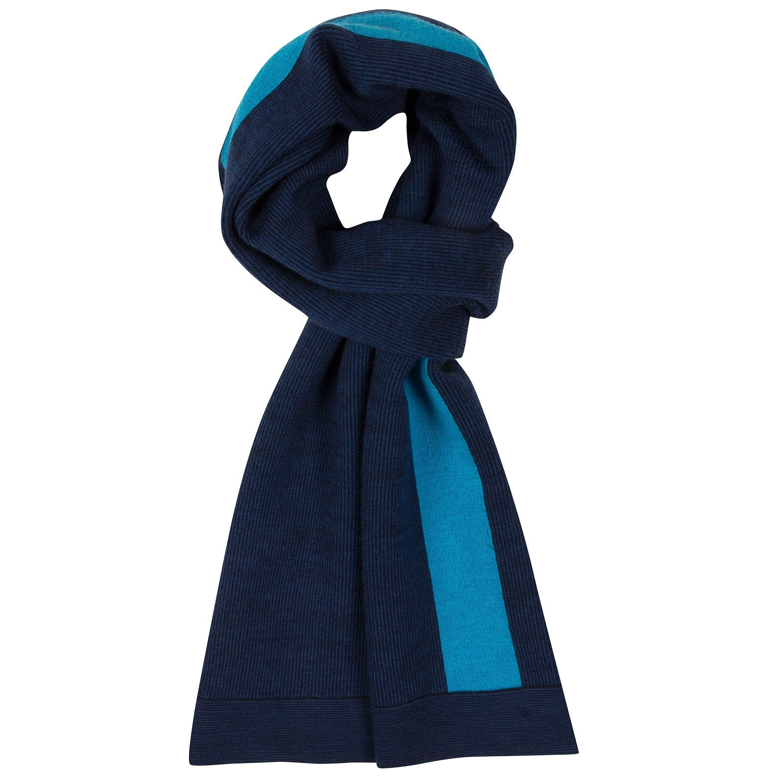 John Smedley Humidity Merino Wool Scarf in Midnight-ONE