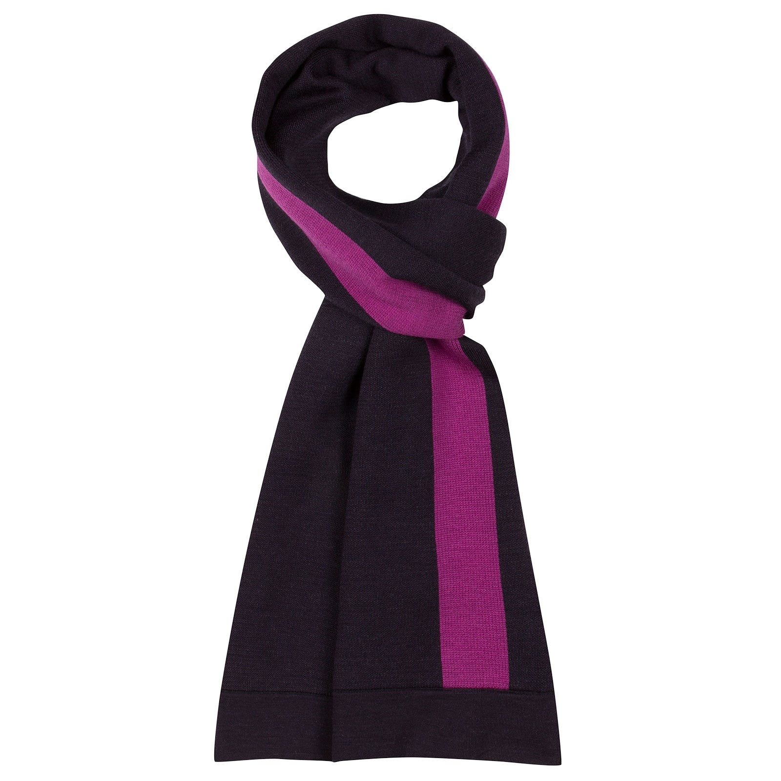 John Smedley Humidity Merino Wool Scarf in Hepburn Smoke-ONE