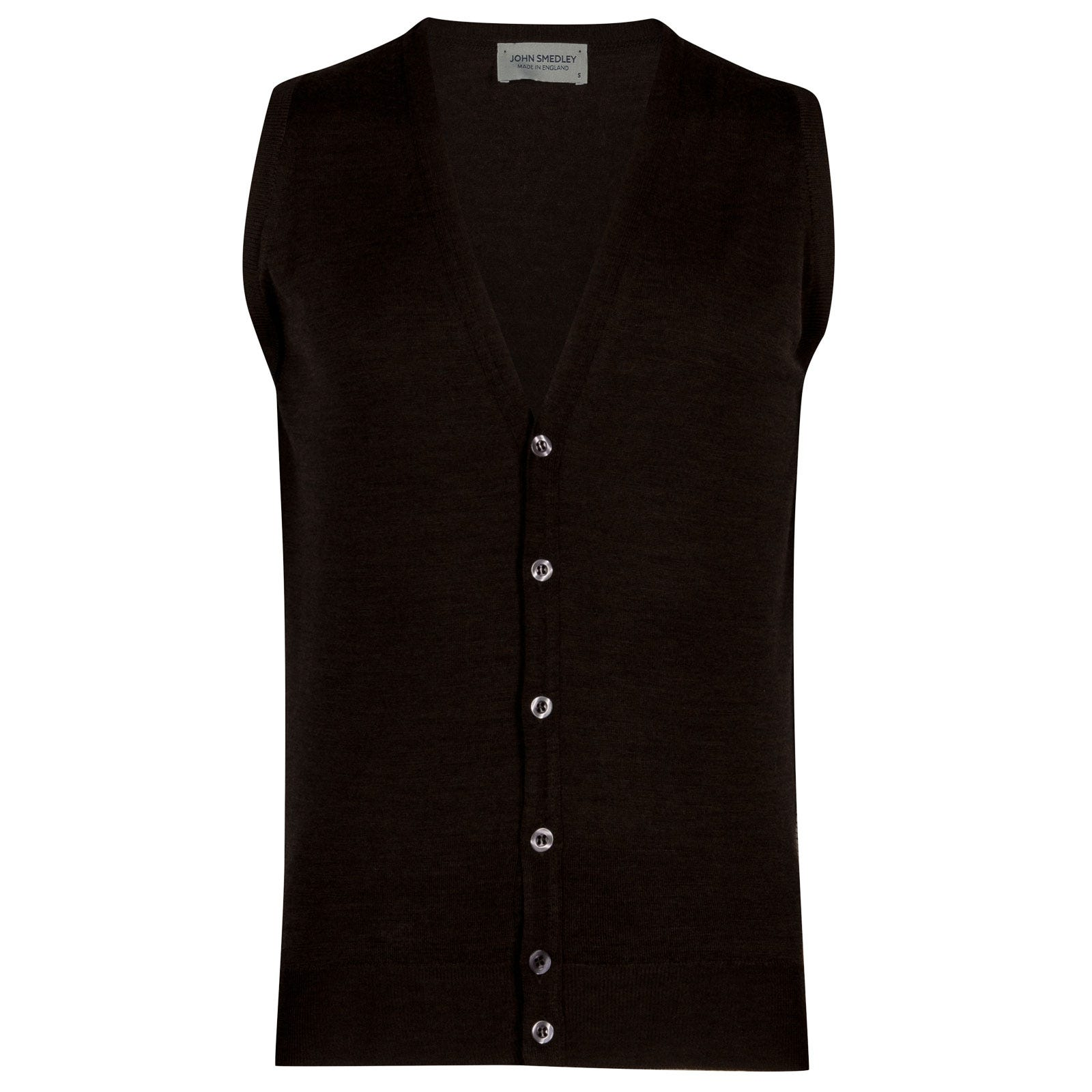 John Smedley HuntswoodMerino Wool Waistcoat in Chestnut-L