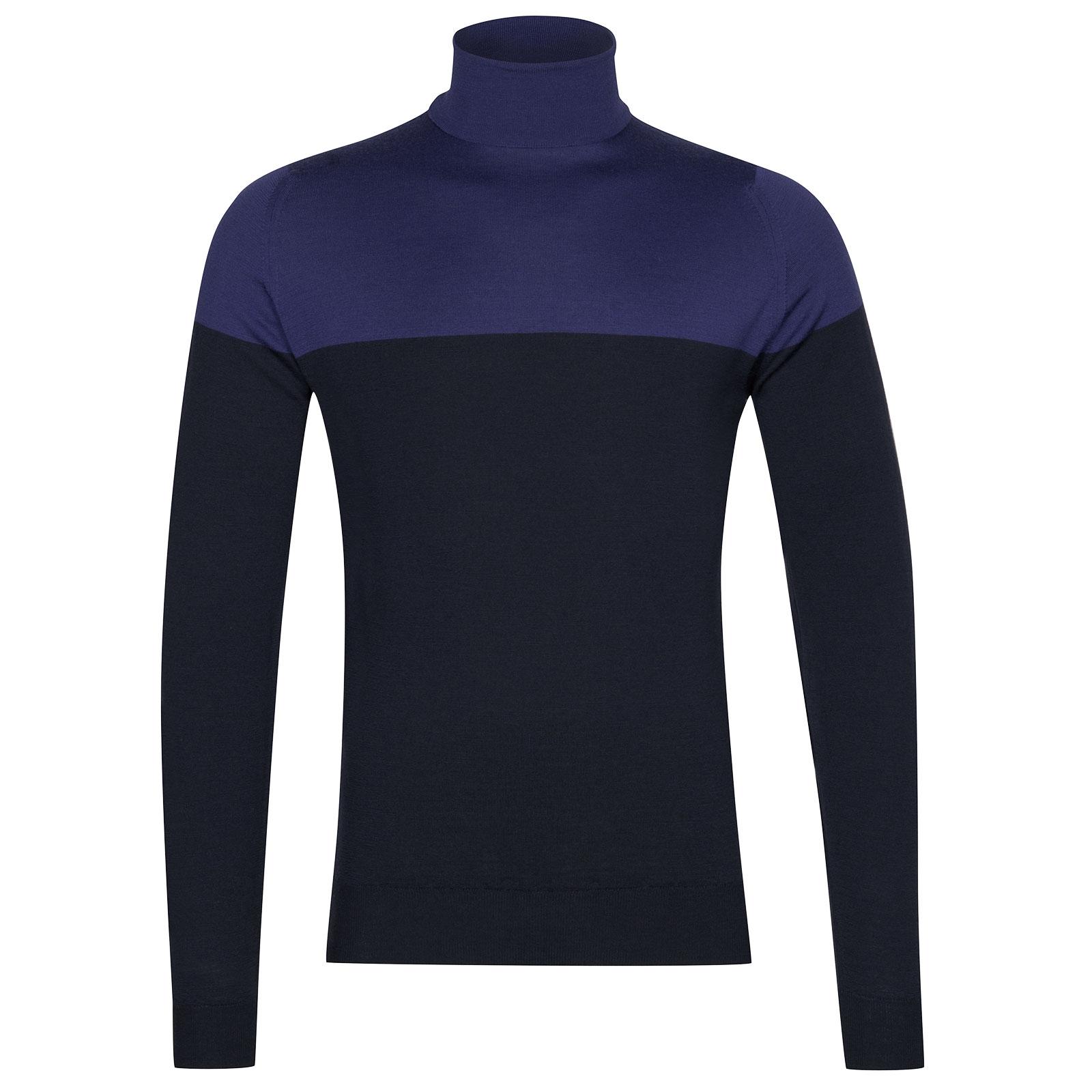John Smedley Iago Extra Fine Merino Pullover in Midnight-XL