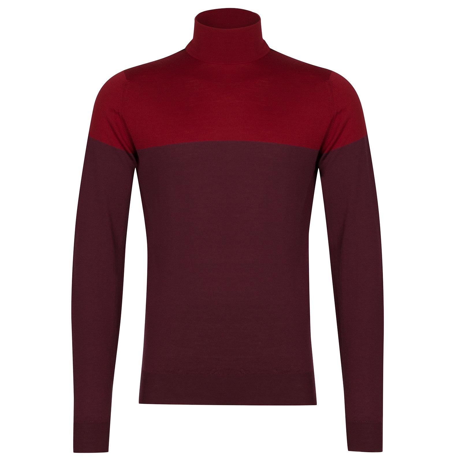 John Smedley Iago Extra Fine Merino Pullover in Bordeaux-XL