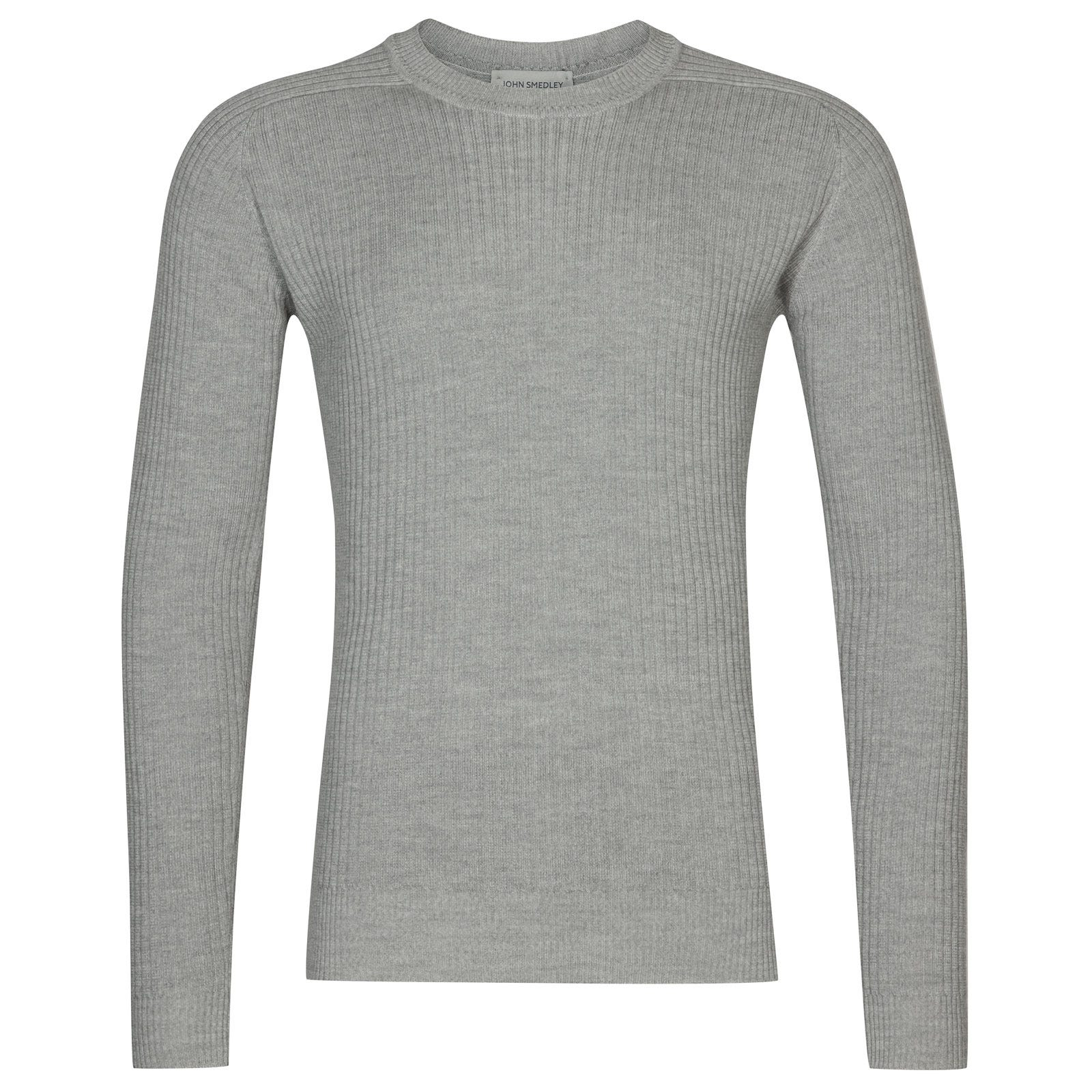 John Smedley idris Merino Wool Pullover in Bardot Grey-M