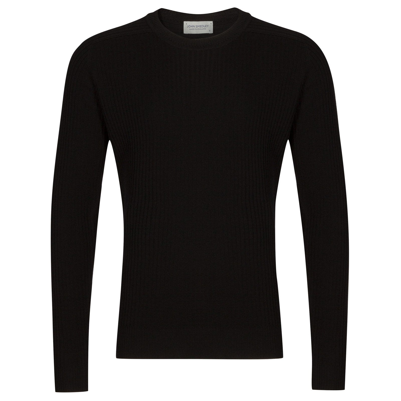 John Smedley idris Merino Wool Pullover in Black-XL