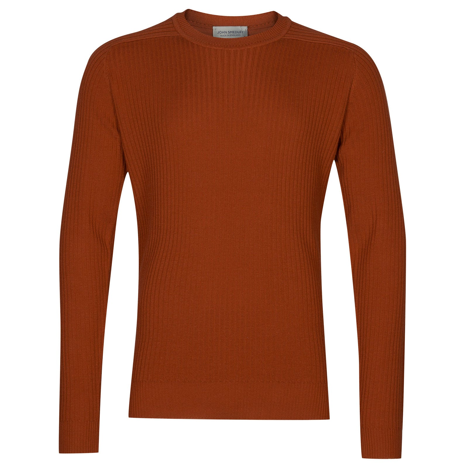 John Smedley idris Merino Wool Pullover in Flare Orange-XL