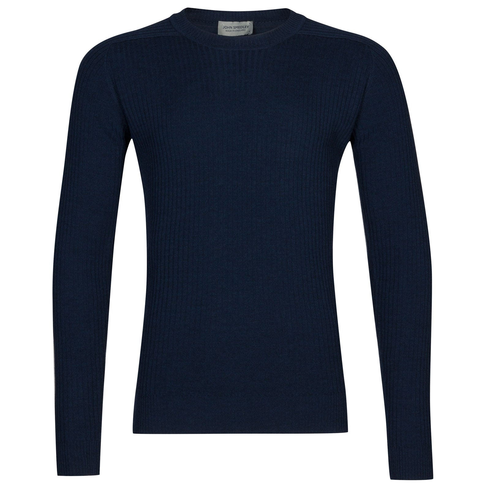 John Smedley idris Merino Wool Pullover in Indigo-L