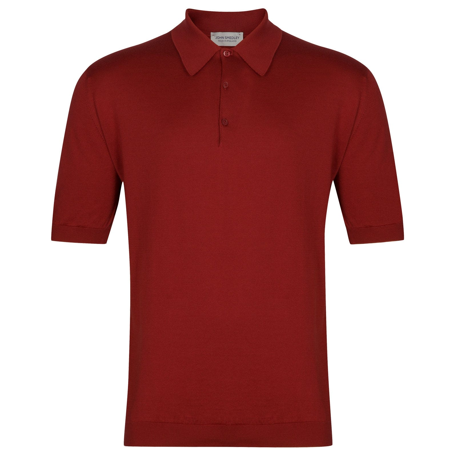 John Smedley Isis in Anther Red Shirt-XSM