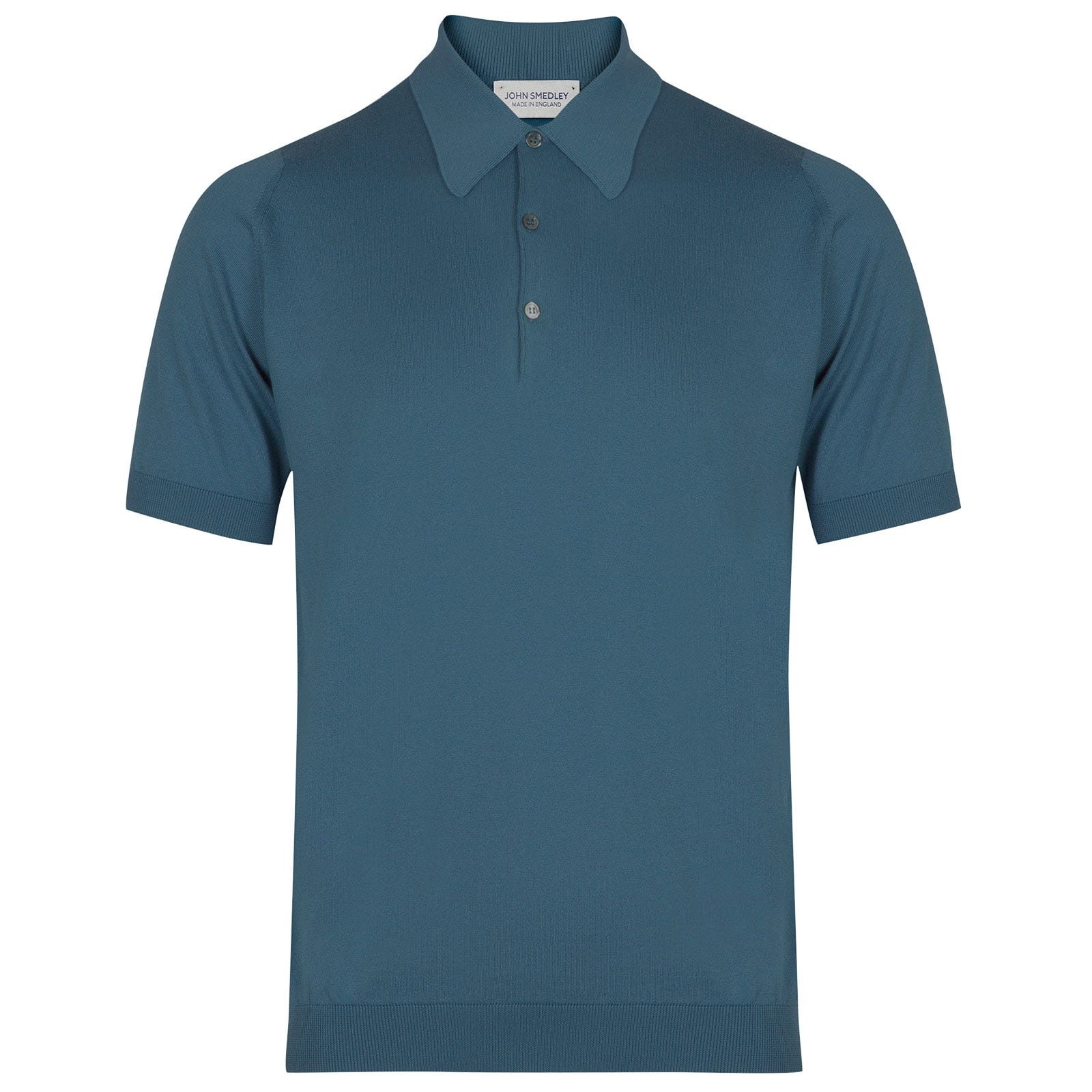 John Smedley Isis Sea Island Cotton Shirt in Bias Blue-M