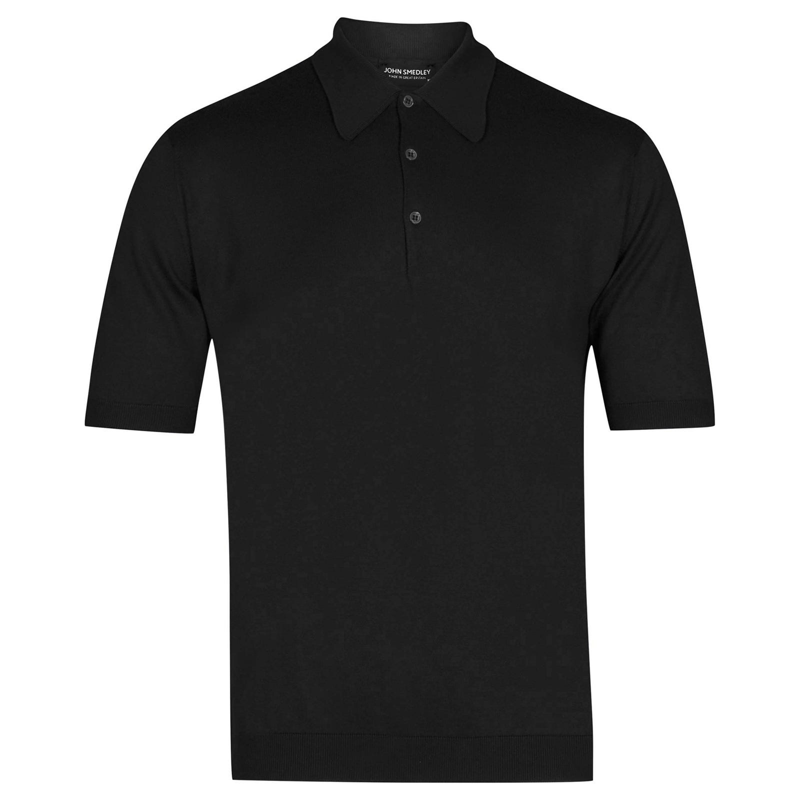 John Smedley Isis Sea Island Cotton Shirt in Black-XXL