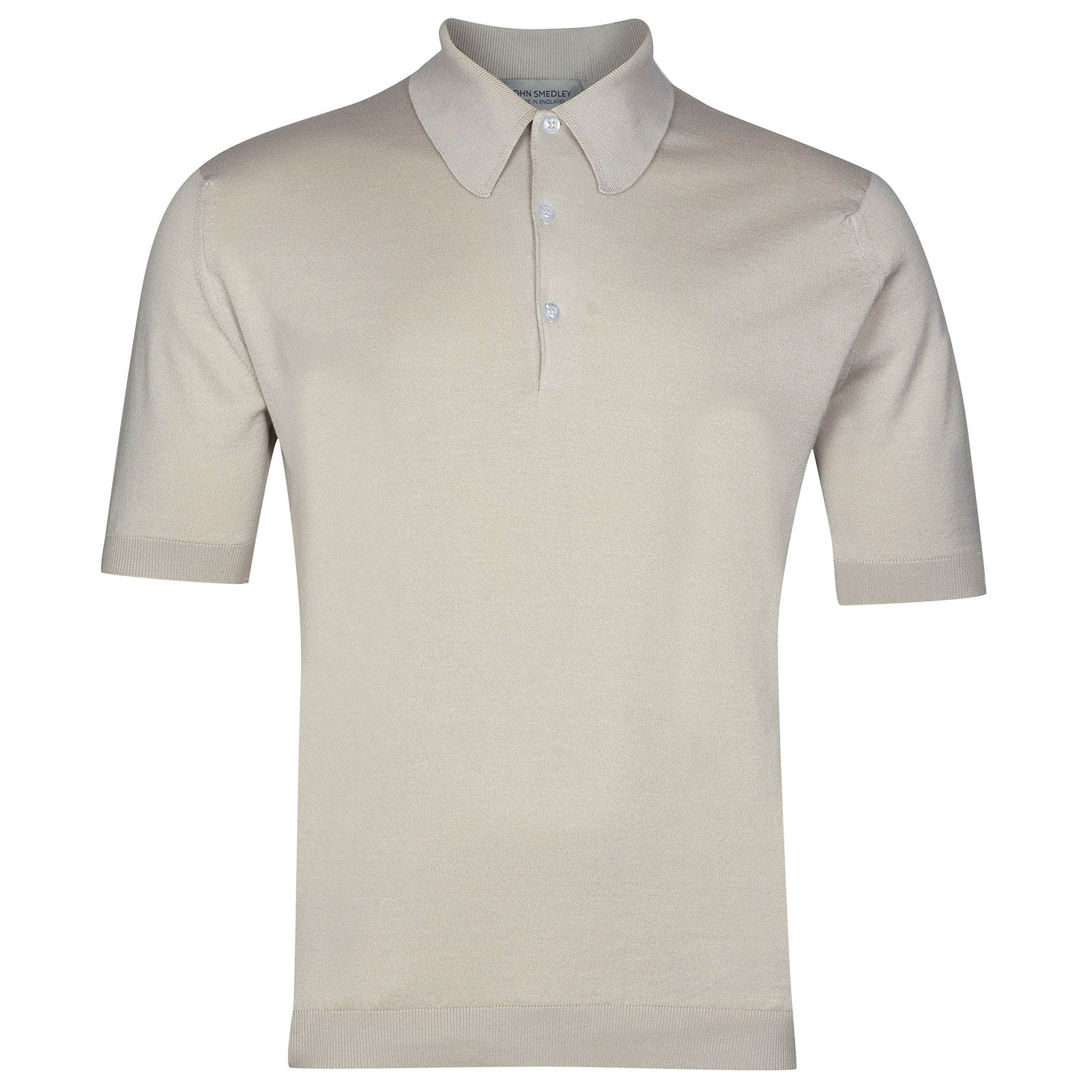 John Smedley Isis Sea Island Cotton Shirt in Brunel Beige-M
