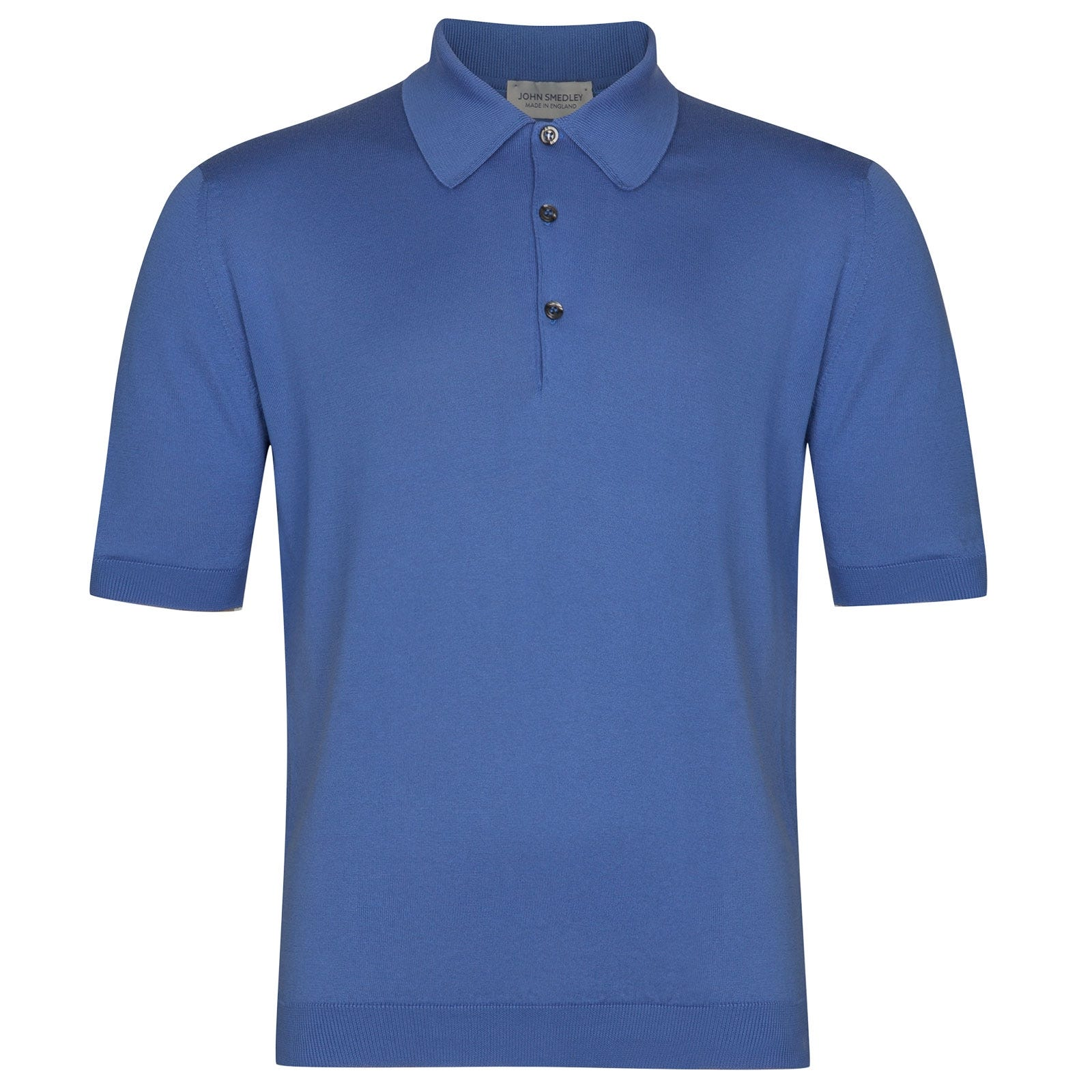 John Smedley Isis Sea Island Cotton Shirt in Chambray Blue-XS