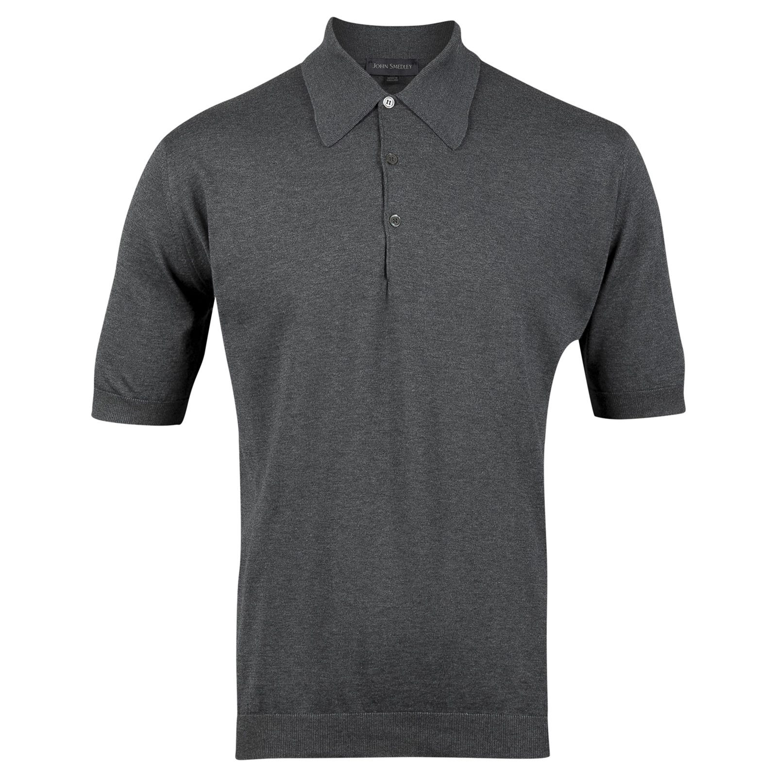John Smedley Isis Sea Island Cotton Shirt in Charcoal-L