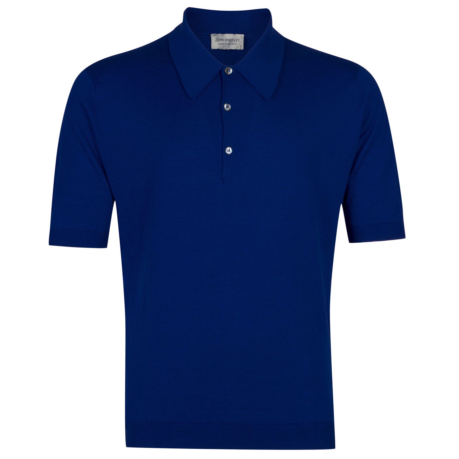 John Smedley Isis Sea Island Cotton Shirt in Coniston Blue-XL