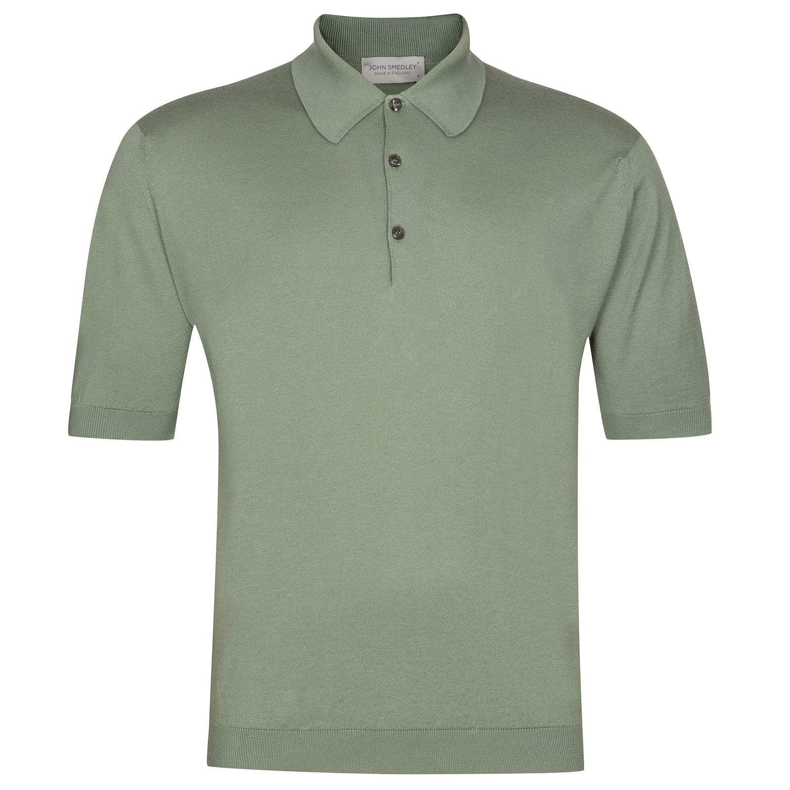 John Smedley Isis Sea Island Cotton Shirt in Gauge Green-M