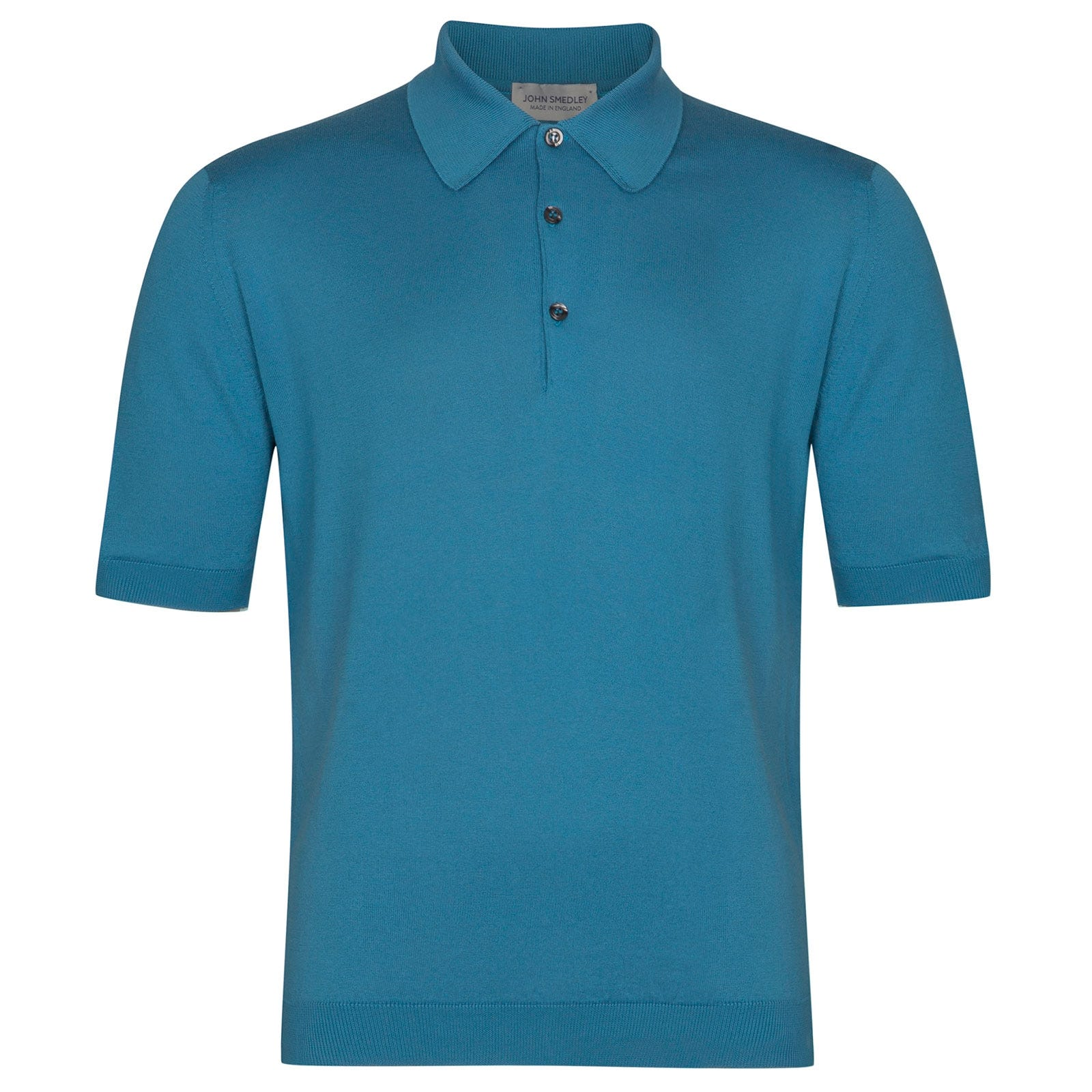 John Smedley Isis Sea Island Cotton Shirt in Ionize Blue-XS
