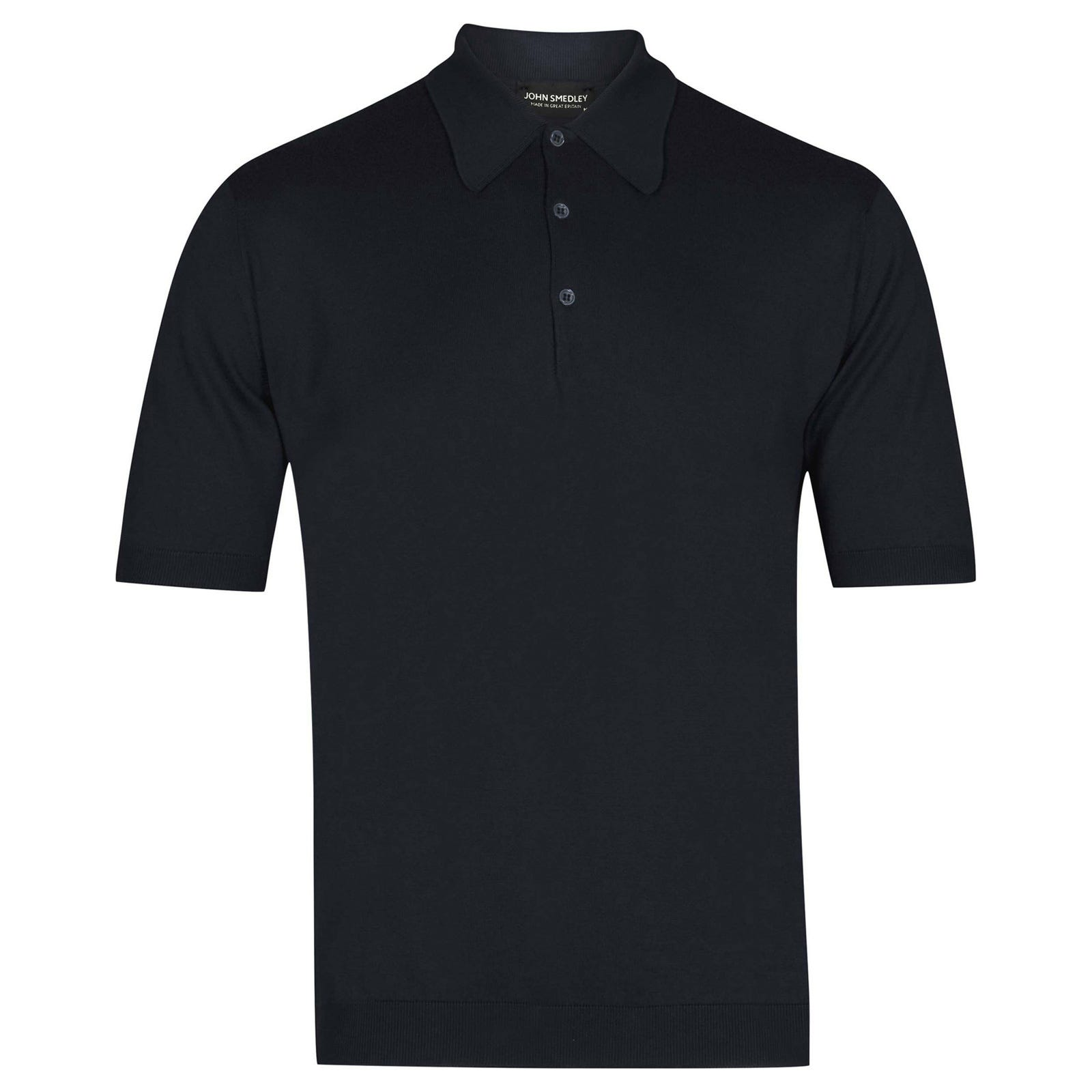 John Smedley Isis Sea Island Cotton Shirt in Navy-XS