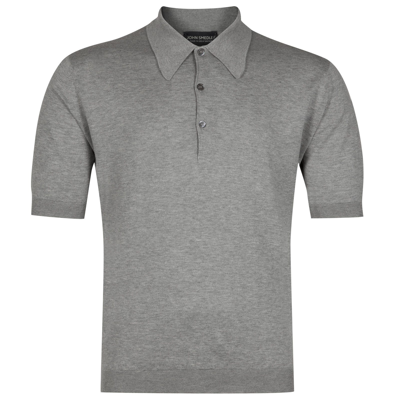 John Smedley Isis Sea Island Cotton Shirt in Silver-S