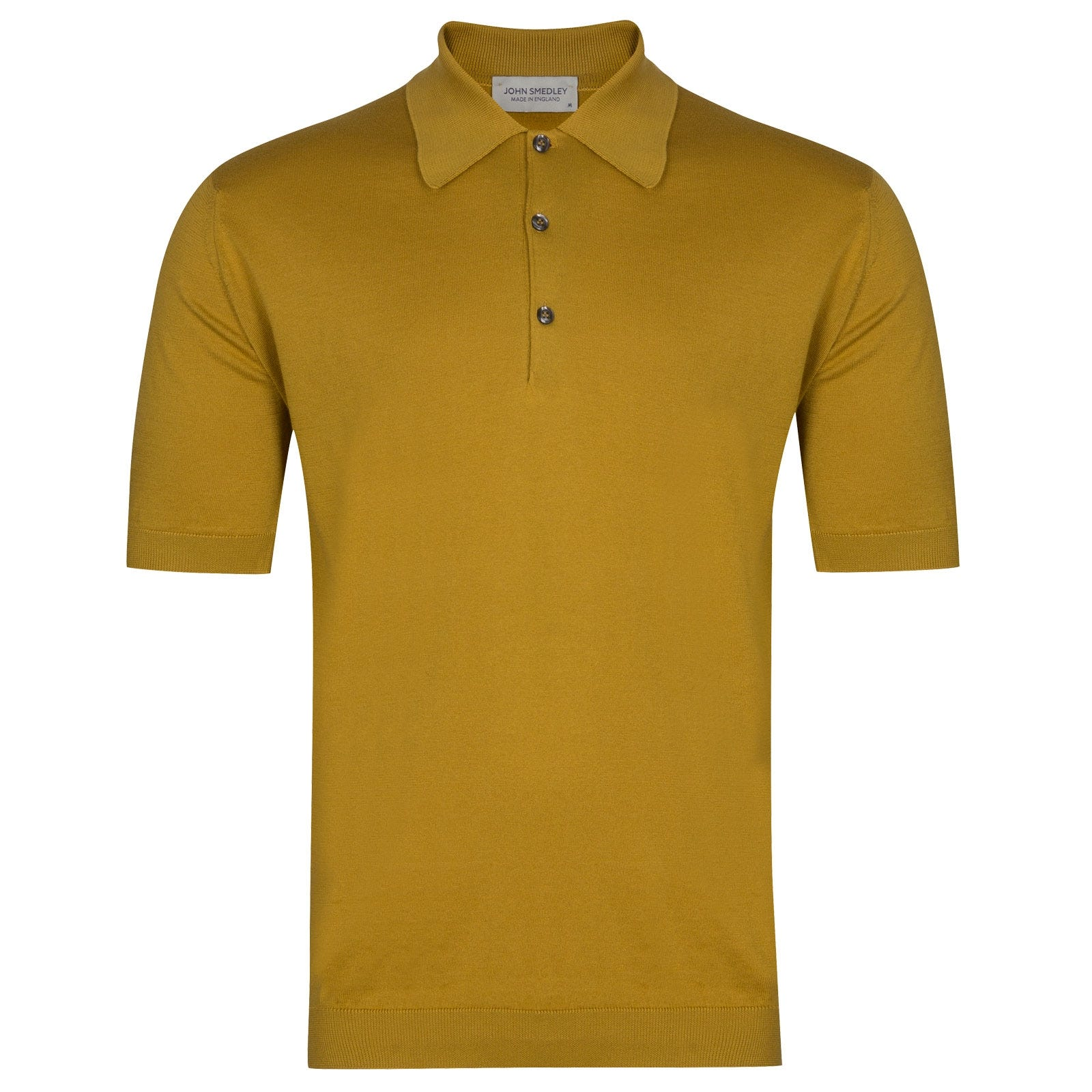 John Smedley Isis in Stamen Yellow Shirt-XSM