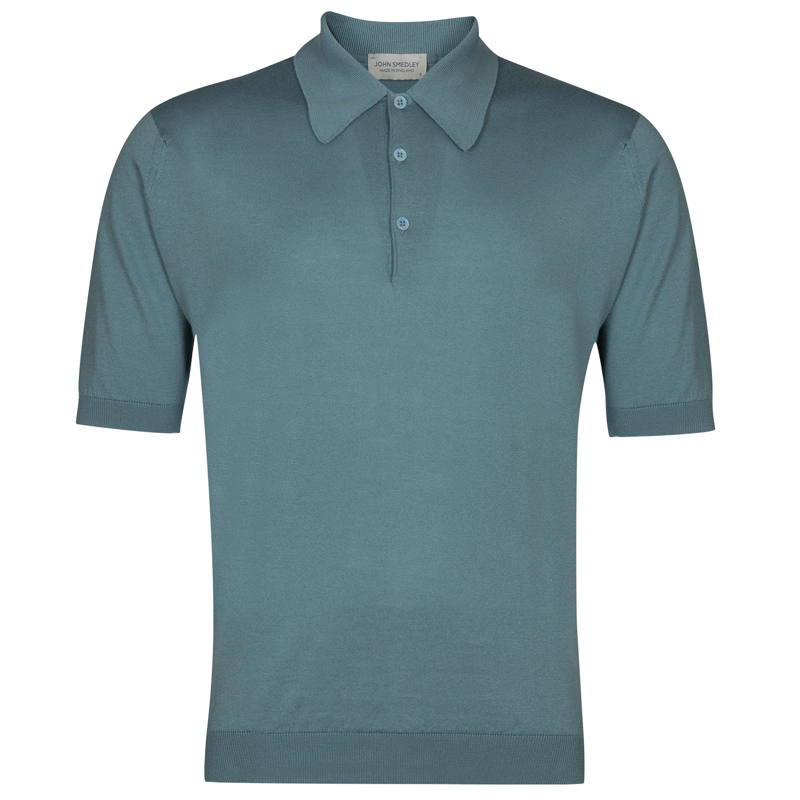 John Smedley Isis Sea Island Cotton Shirt in Summit Blue-XS