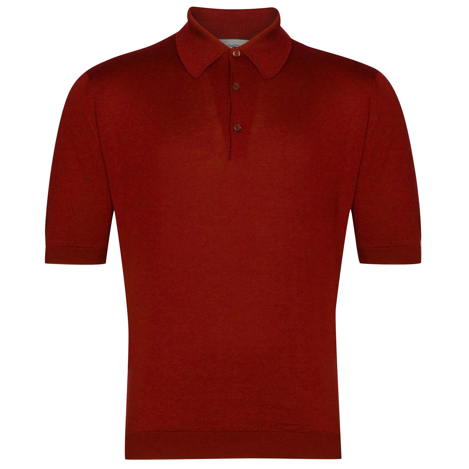 John Smedley Isis Sea Island Cotton Shirt in Thermal Red-L