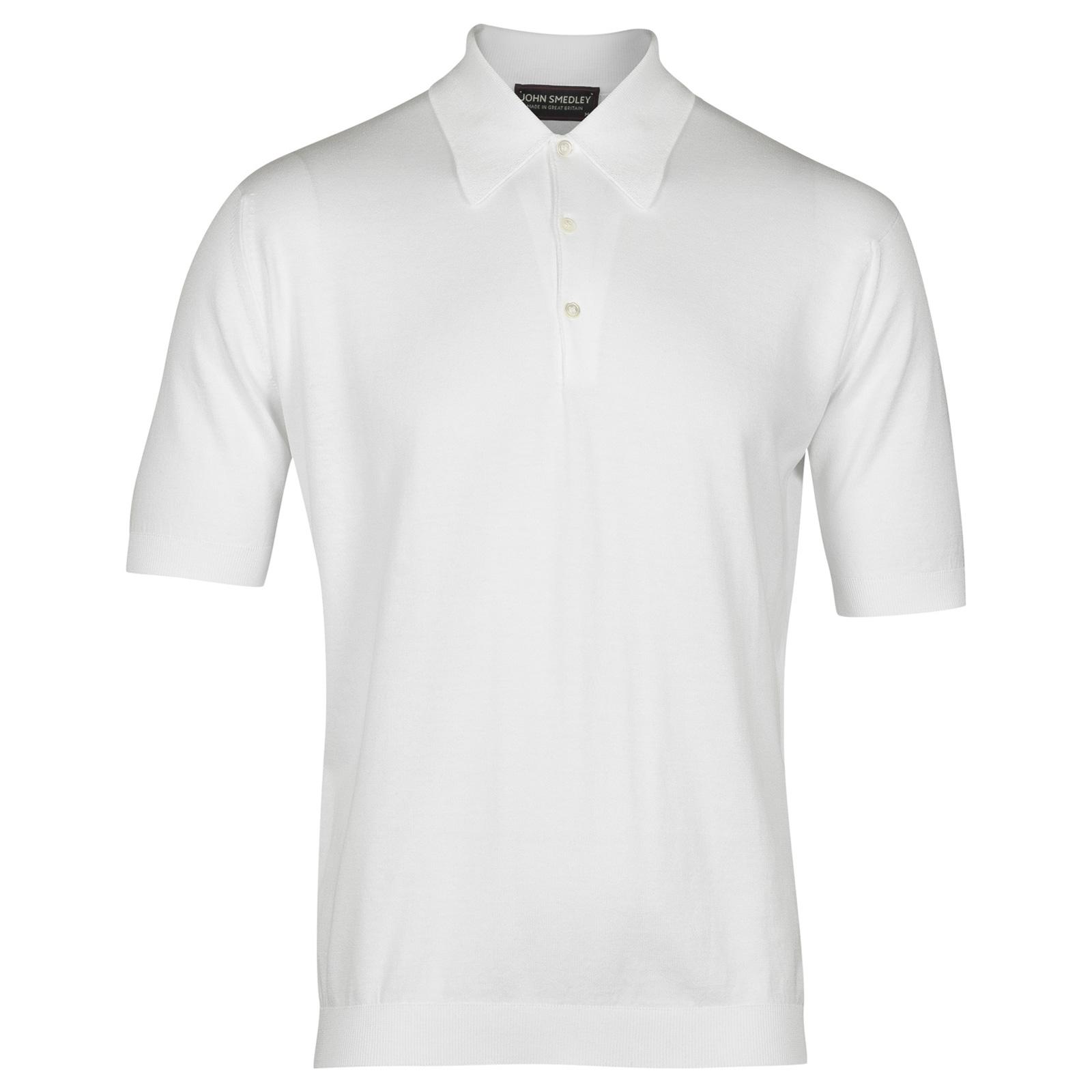 John Smedley Isis Sea Island Cotton Shirt in White-XL