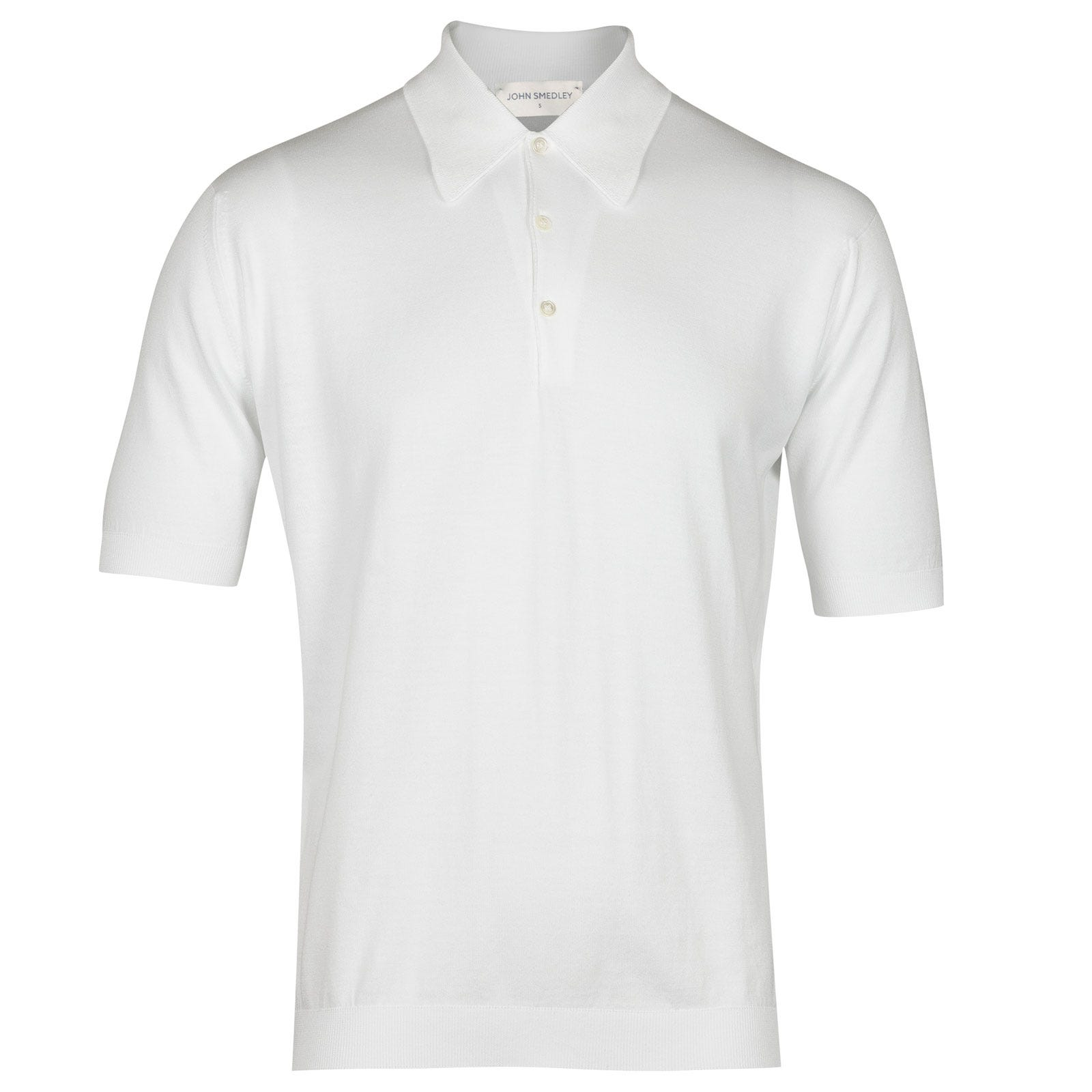 John Smedley Isis Sea Island Cotton Shirt in White-S