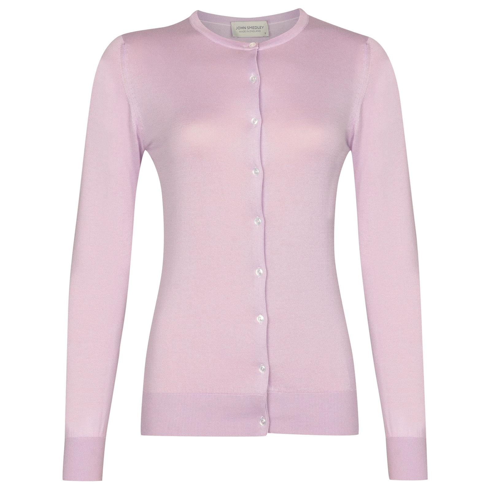 John Smedley Islington in Pink Blossom Cardigan-LGE