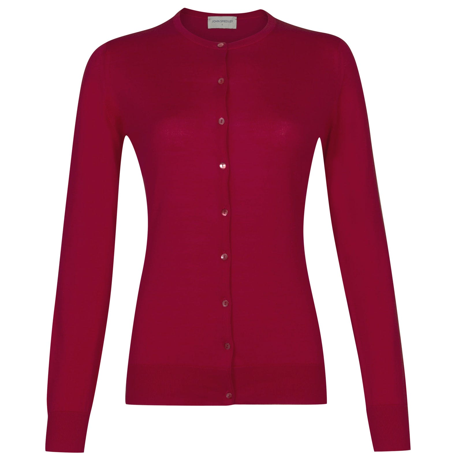 John Smedley Islington Sea Island Cotton Cardigan in Scarlet Sky-S
