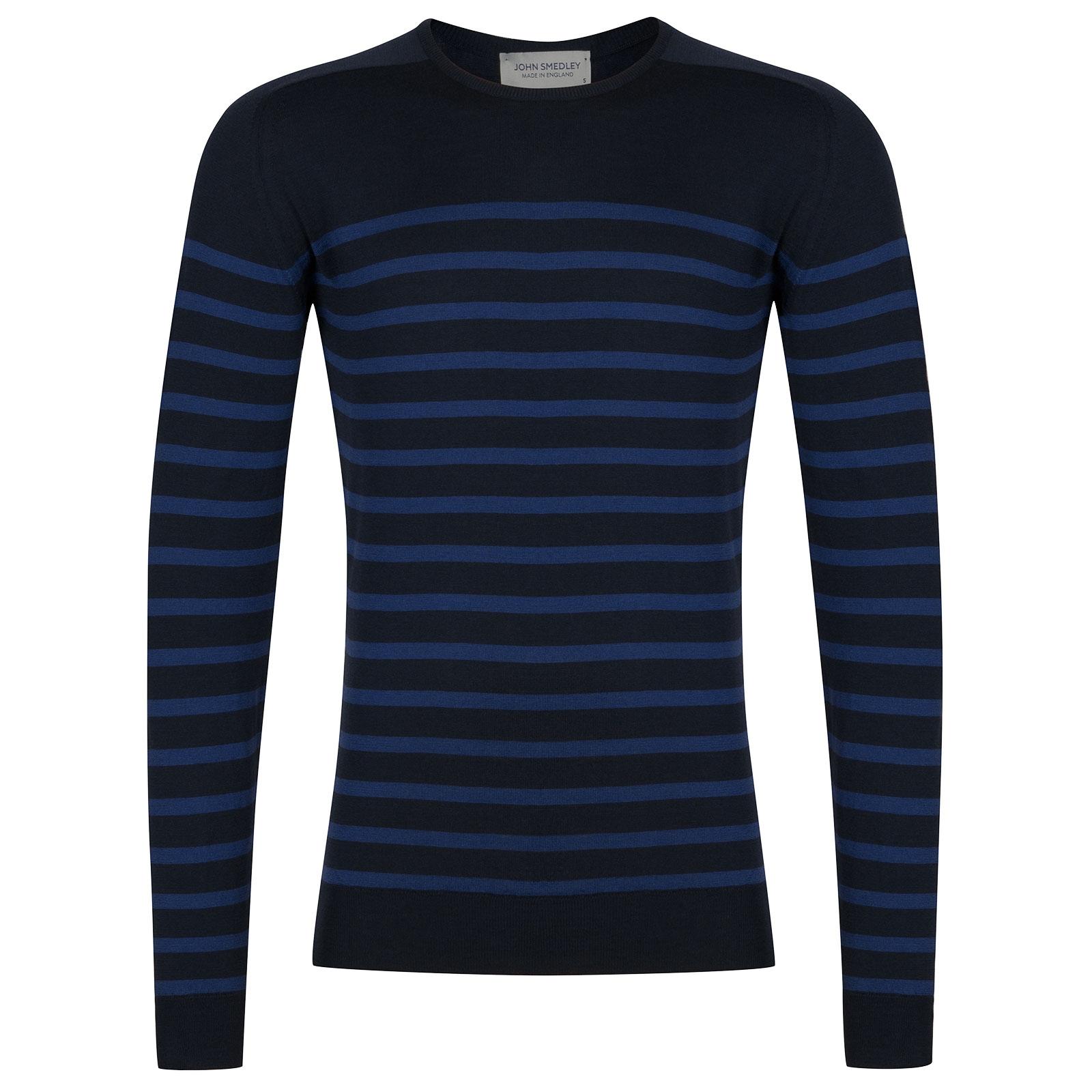 John Smedley Jakob Extra Fine Merino Pullover in Midnight-XL