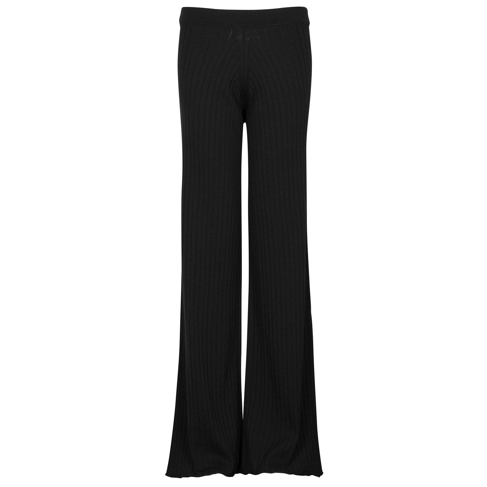 John Smedley joanie Merino Wool Trouser in Black-XL