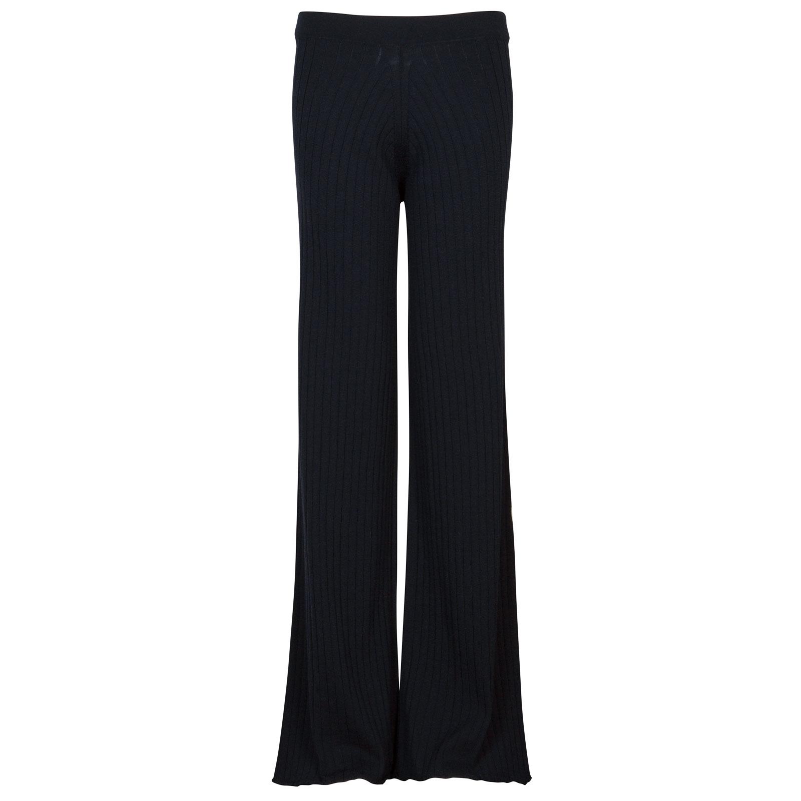 John Smedley joanie Merino Wool Trouser in Midnight-XL