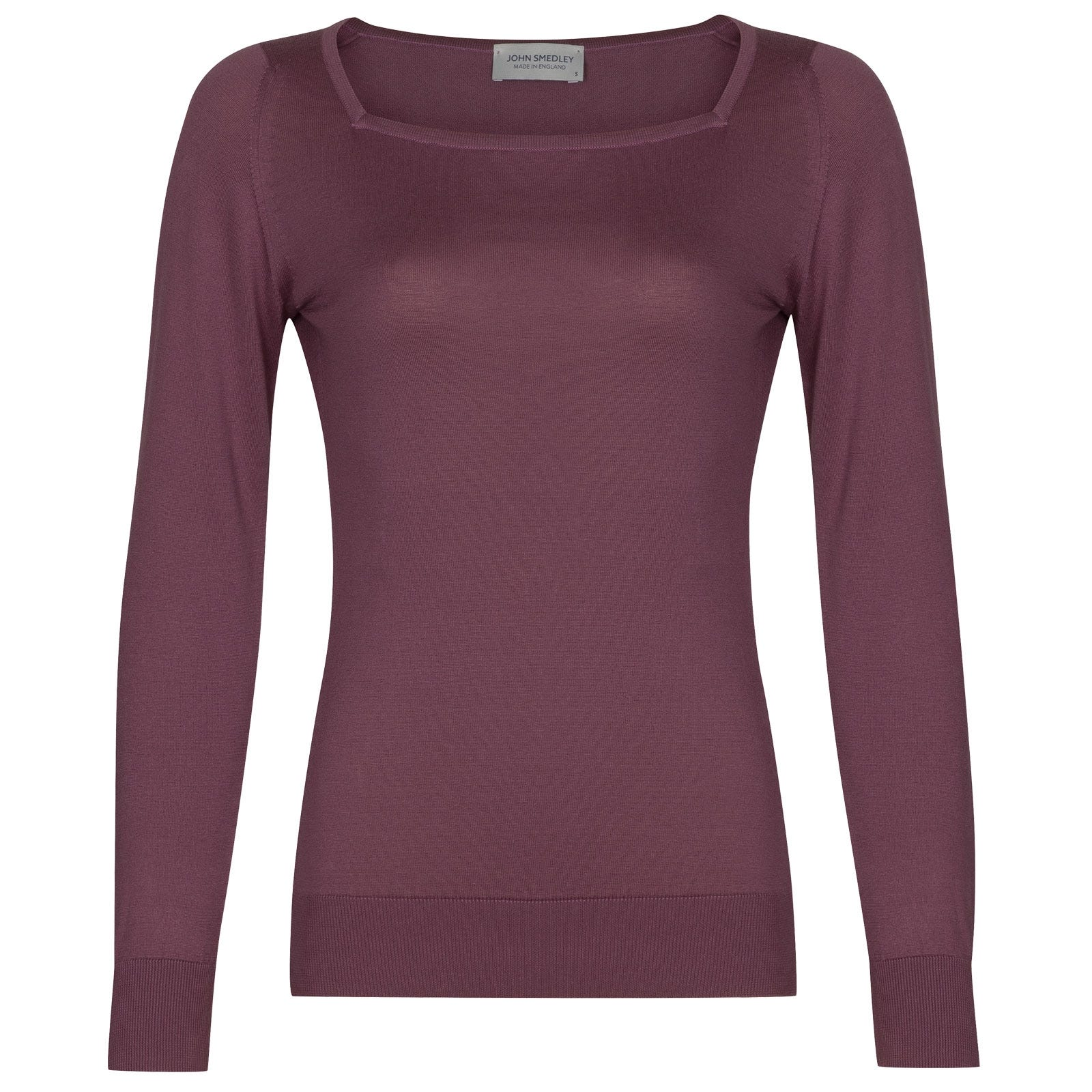 John Smedley Katia in Brassica Purple Sweater-LGE
