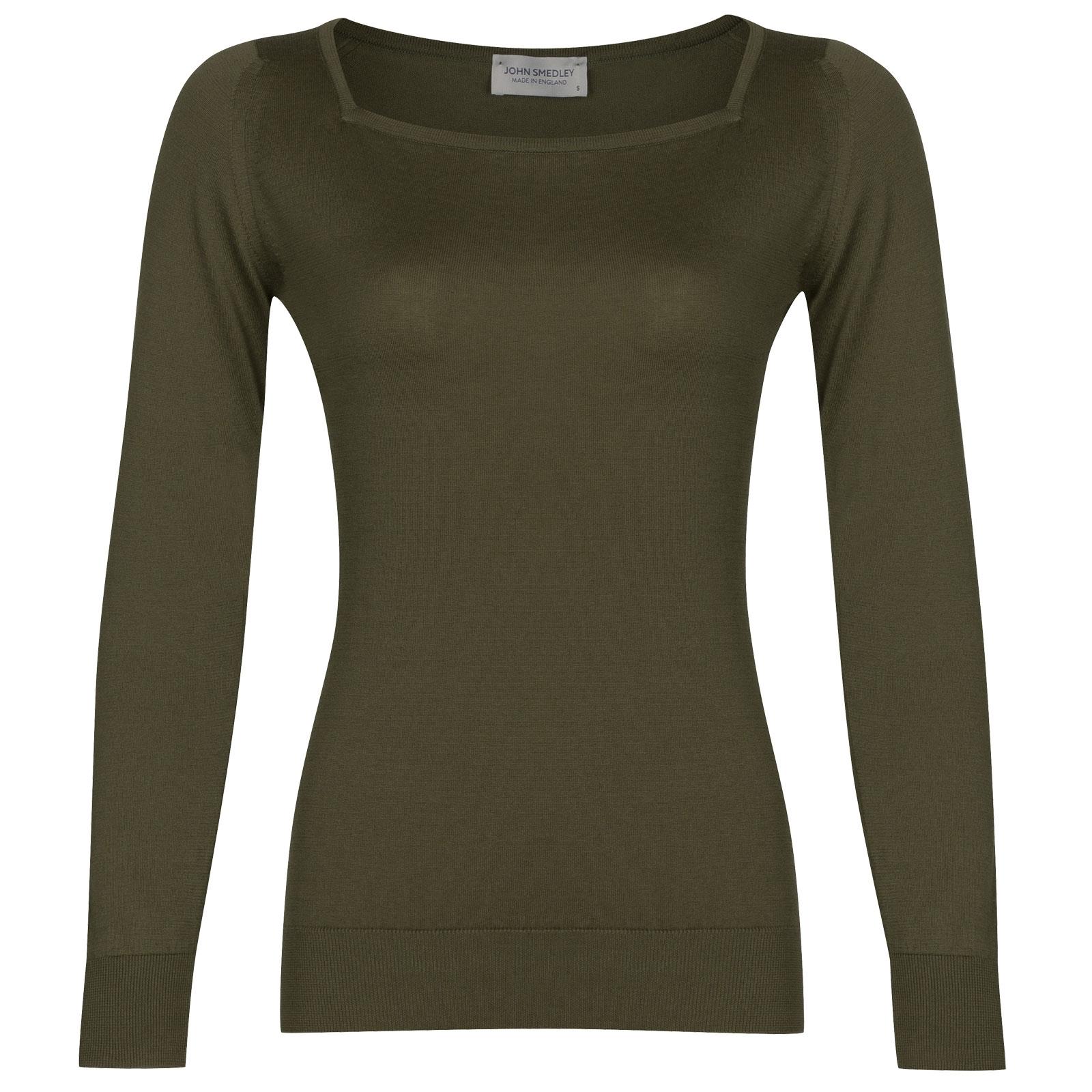 John Smedley Katia in Sepal Green Sweater-LGE