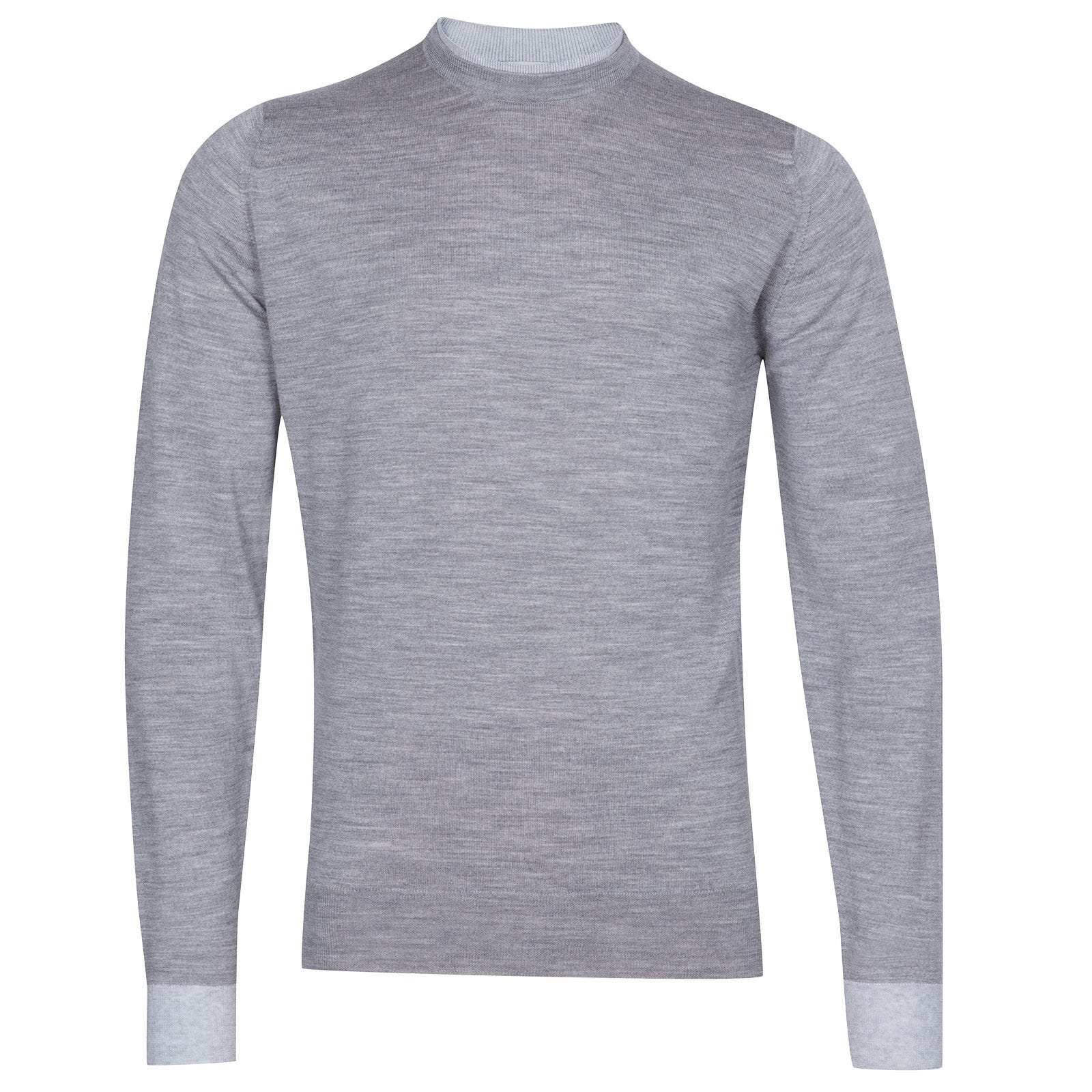 John Smedley Kenn Extra Fine Merino Pullover in Silver-M