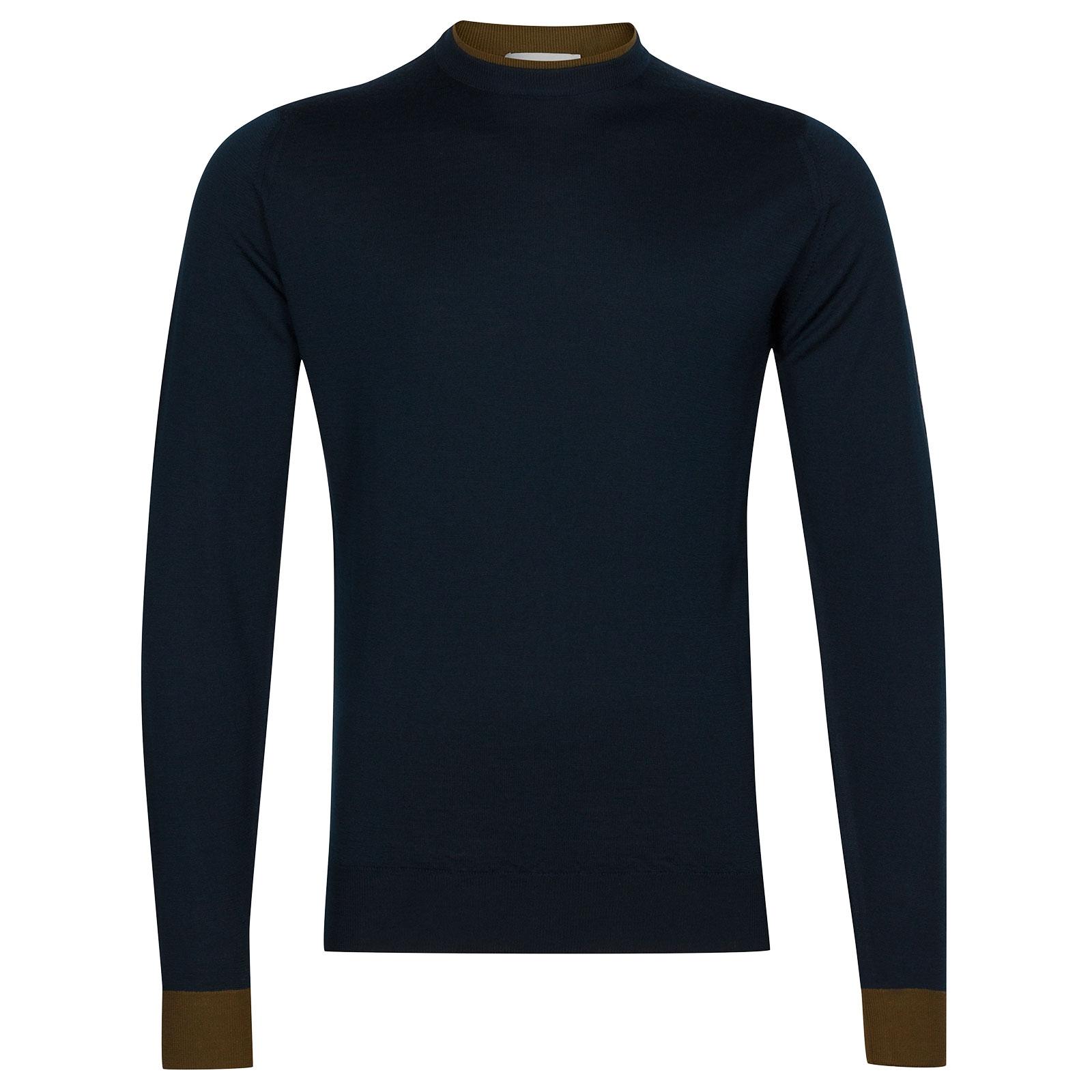 John Smedley Kenn Extra Fine Merino Pullover in Orion Green-S
