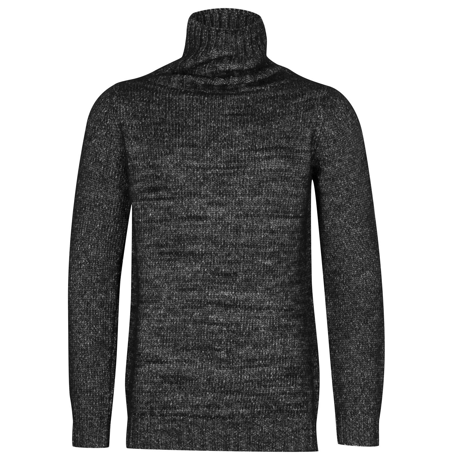 John Smedley kilbreck Alpaca, Wool & Cotton Pullover in Black-XXL