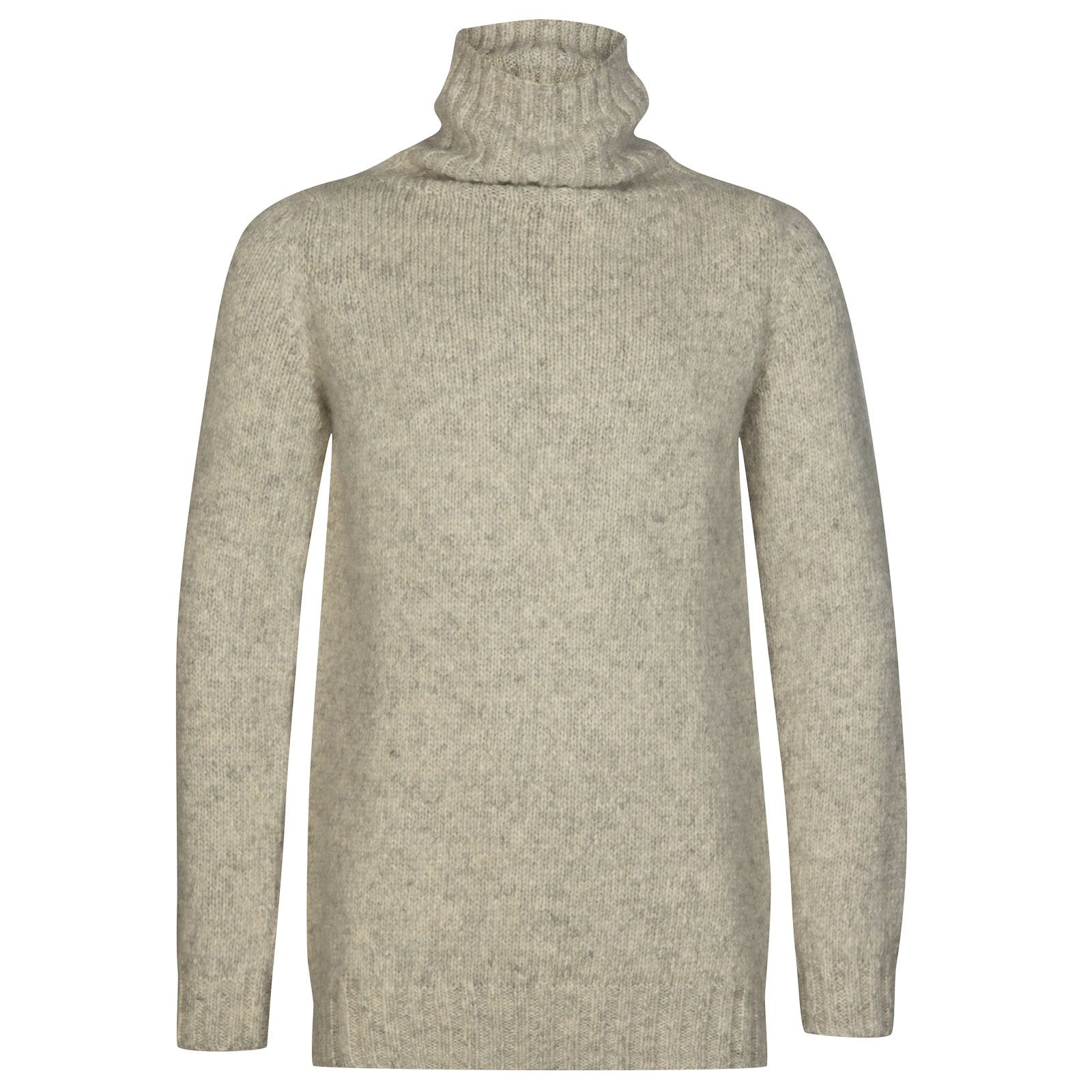 John Smedley kilbreck Alpaca, Wool & Cotton Pullover in Silver-L