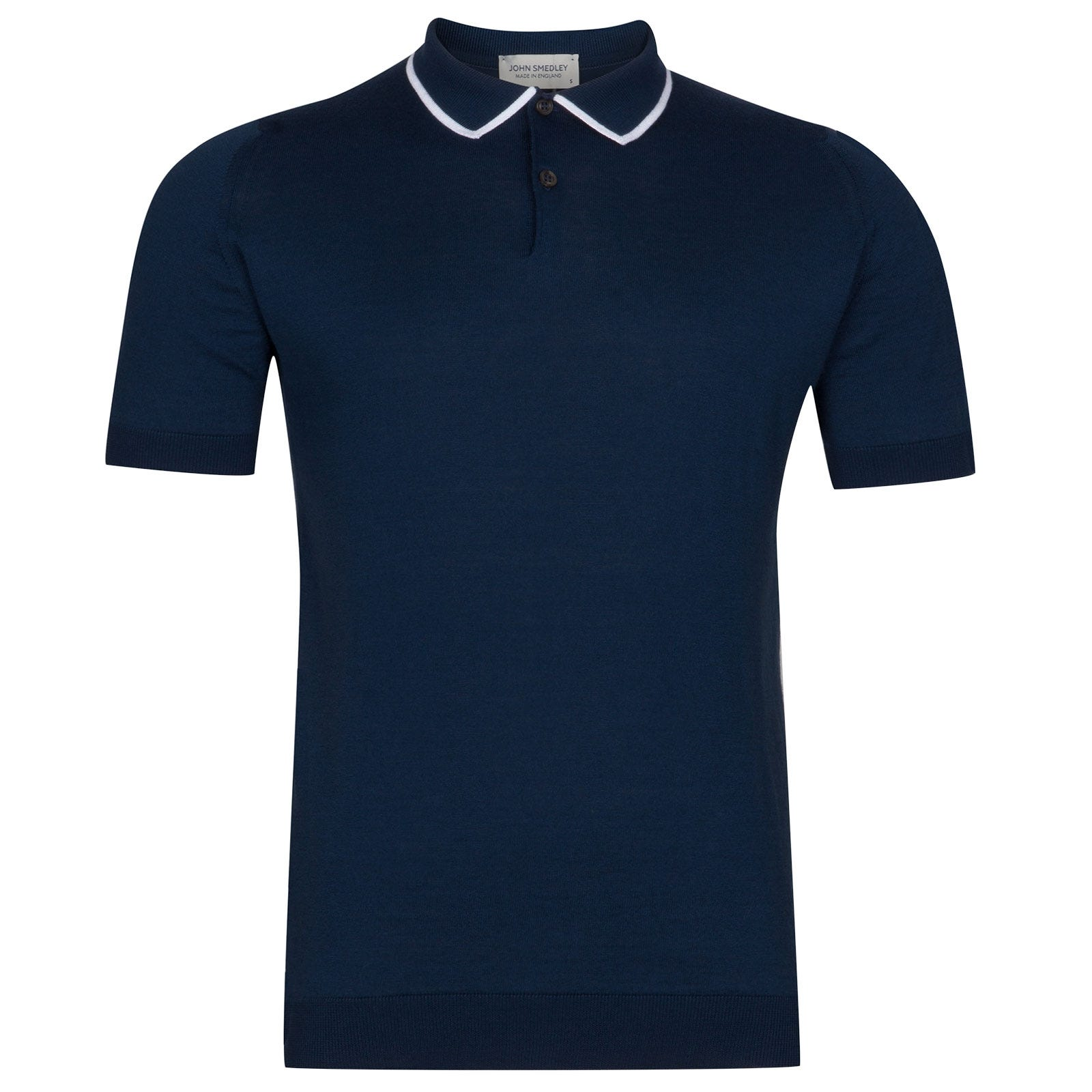 John Smedley Klerk Sea Island Cotton Shirt in Indigo-M