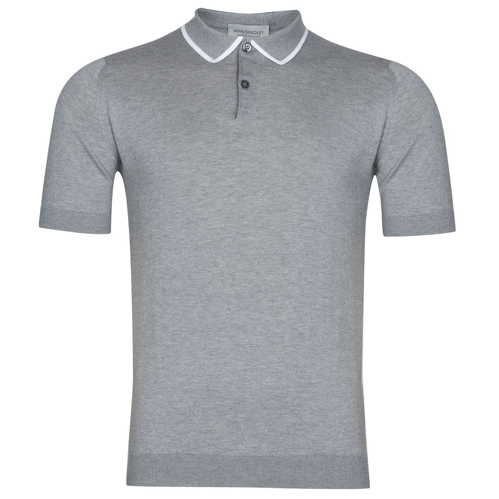 John Smedley Klerk Sea Island Cotton Shirt in Silver-XL