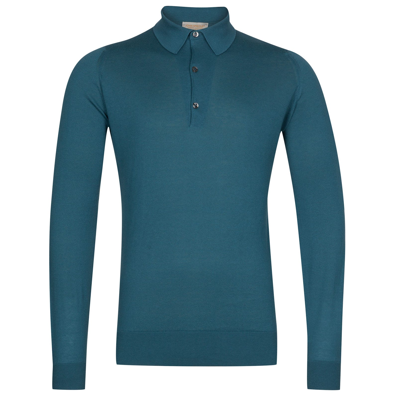 John Smedley Lanlay Sea Island Cotton and Cashmere Shirt in Bias