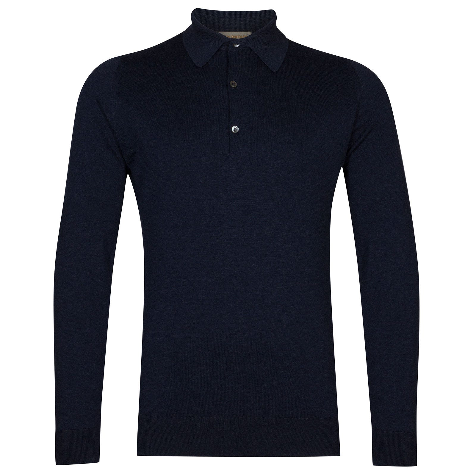 John Smedley Lanlay Sea Island Cotton and Cashmere Shirt in Indigo-M