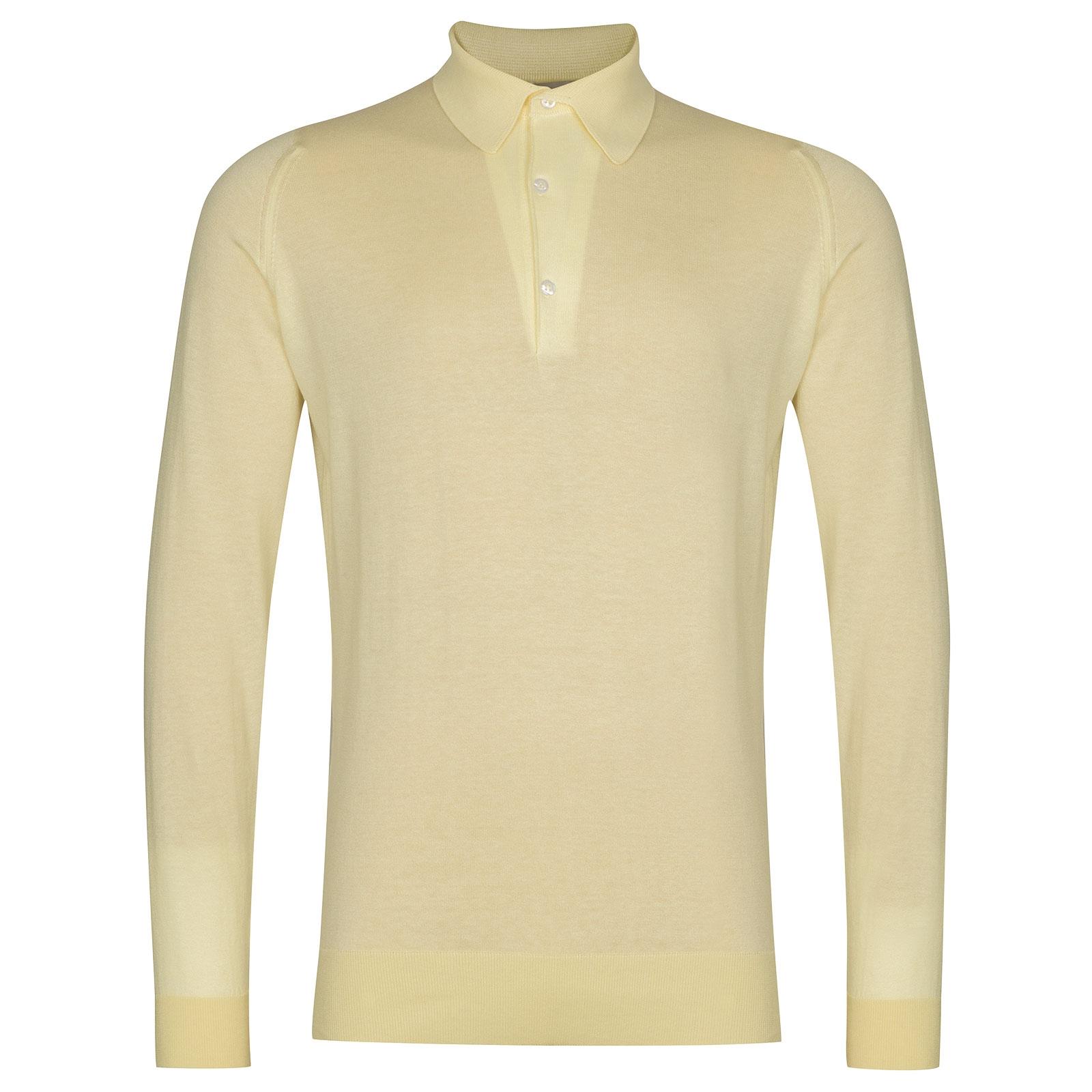 John Smedley Lanlay in Lemon White Shirt-LGE