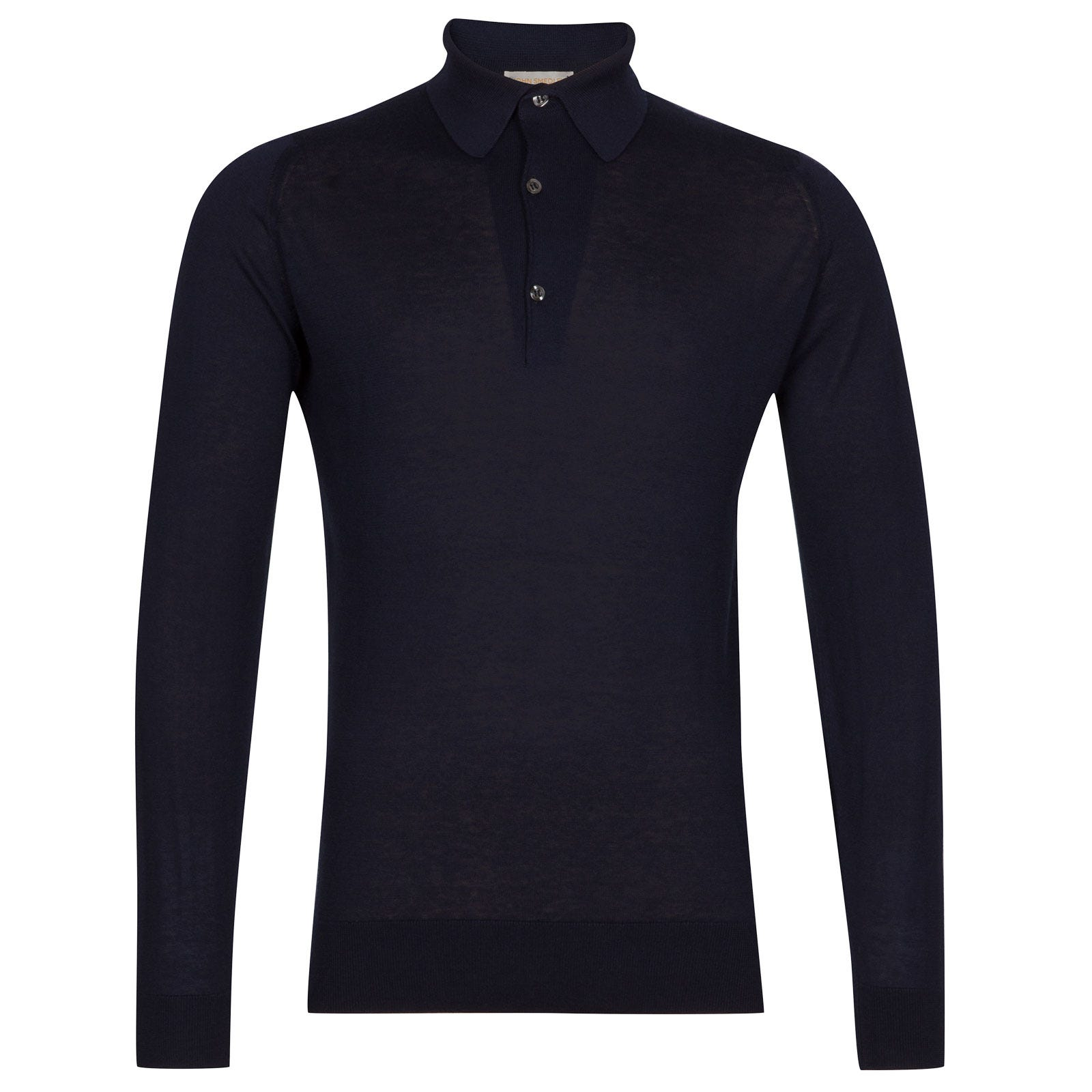 John Smedley Lanlay Sea Island Cotton and Cashmere Shirt in Navy-XL